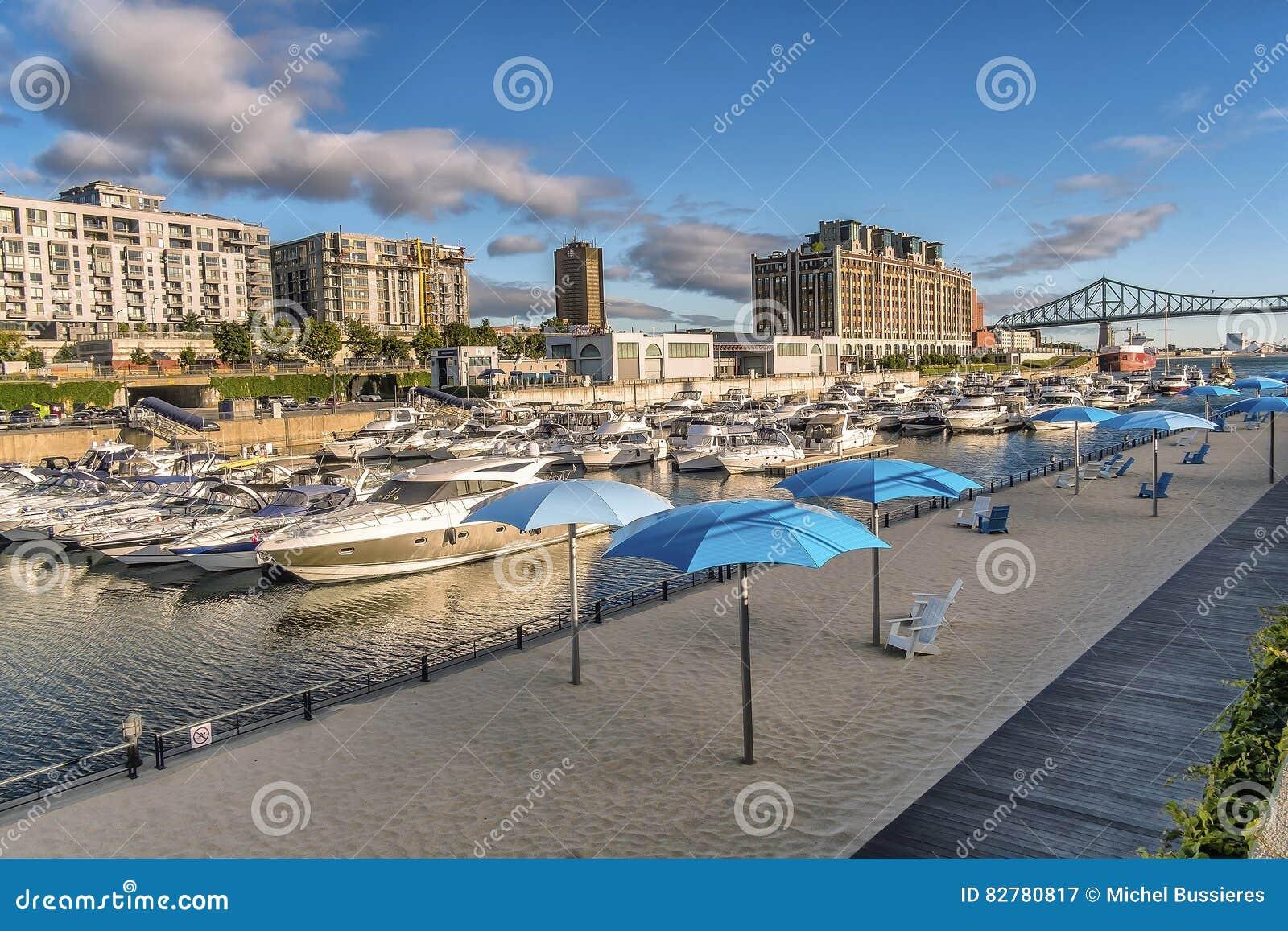 Montreal Old Port scene