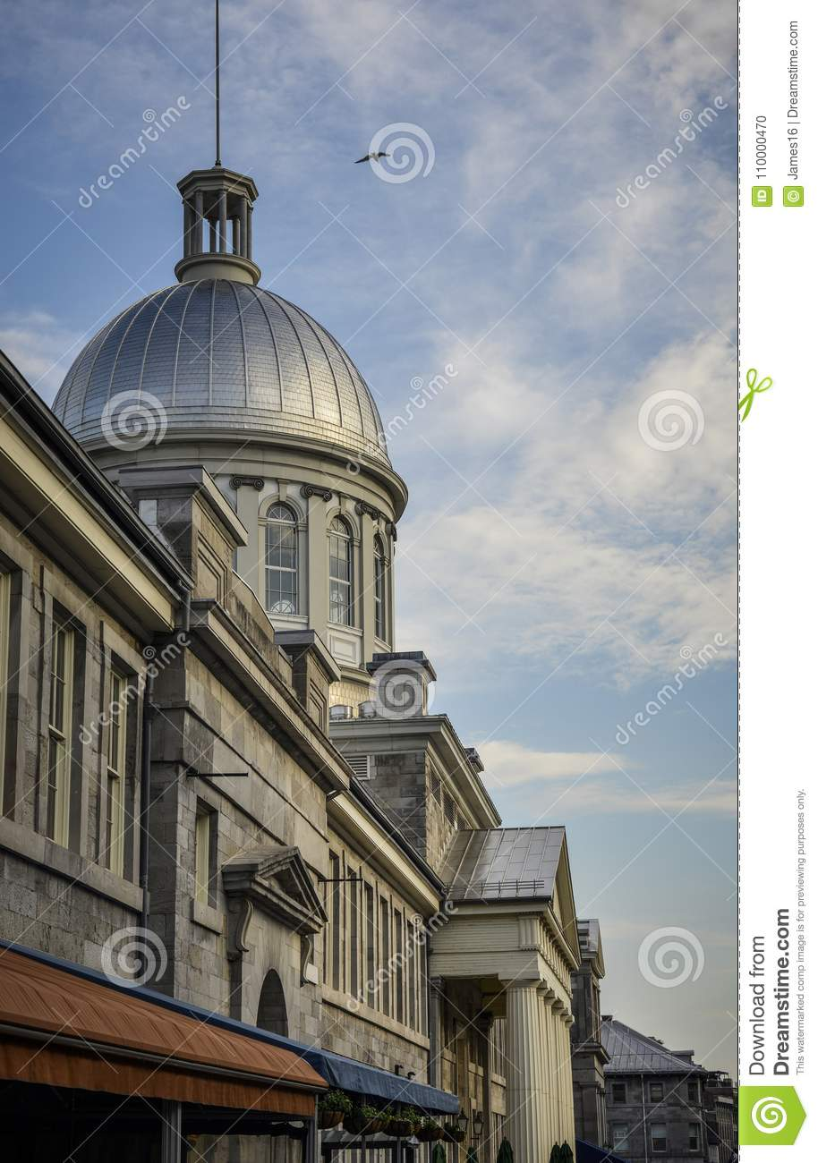 Montreal`s Old Port Marche Bonsecours