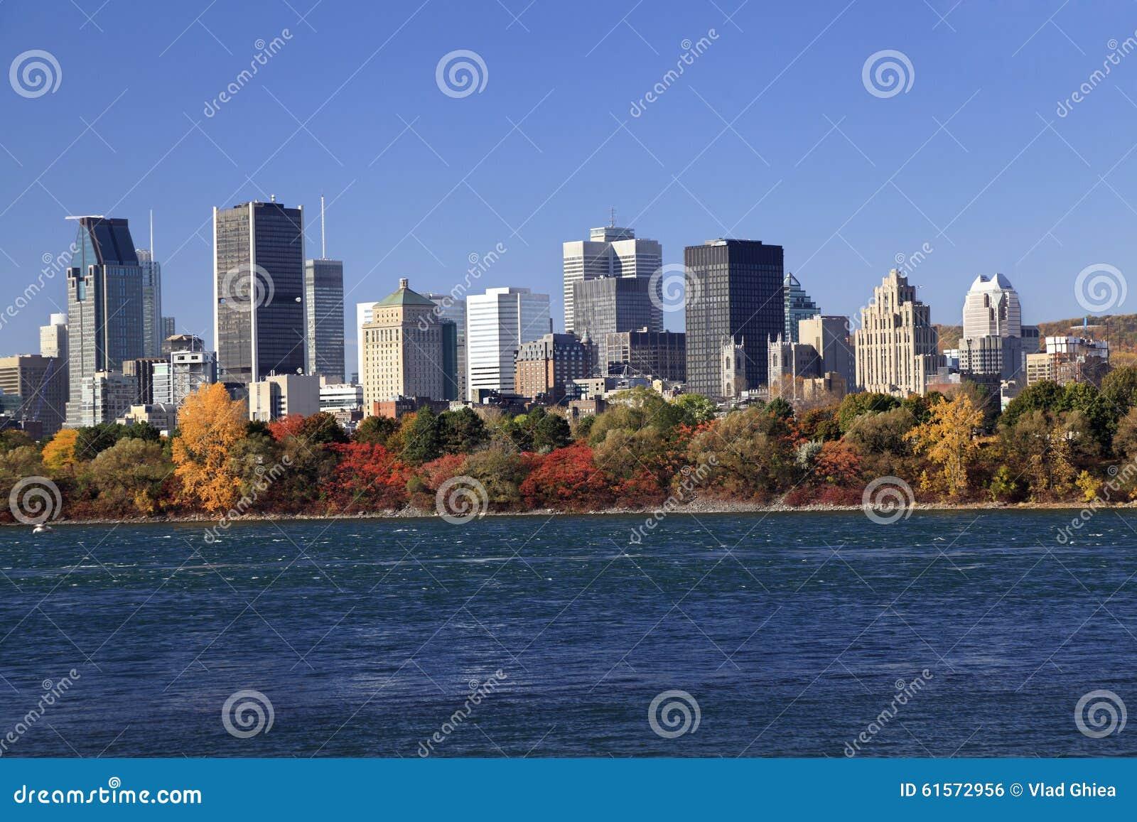 Montreal skyline in autumn, Canada
