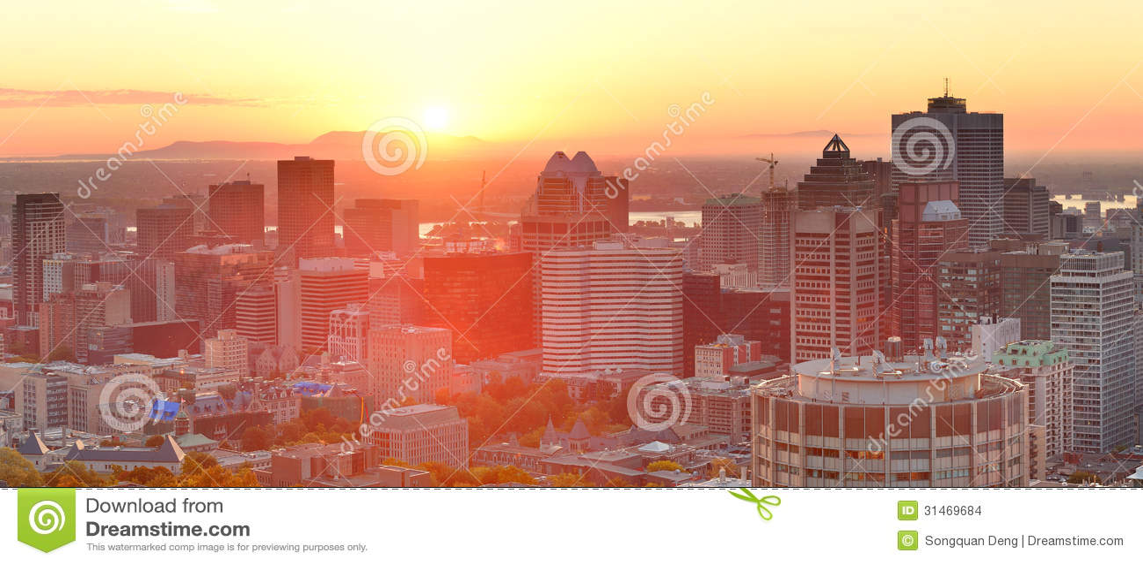 Montreal soluppgångpanorama