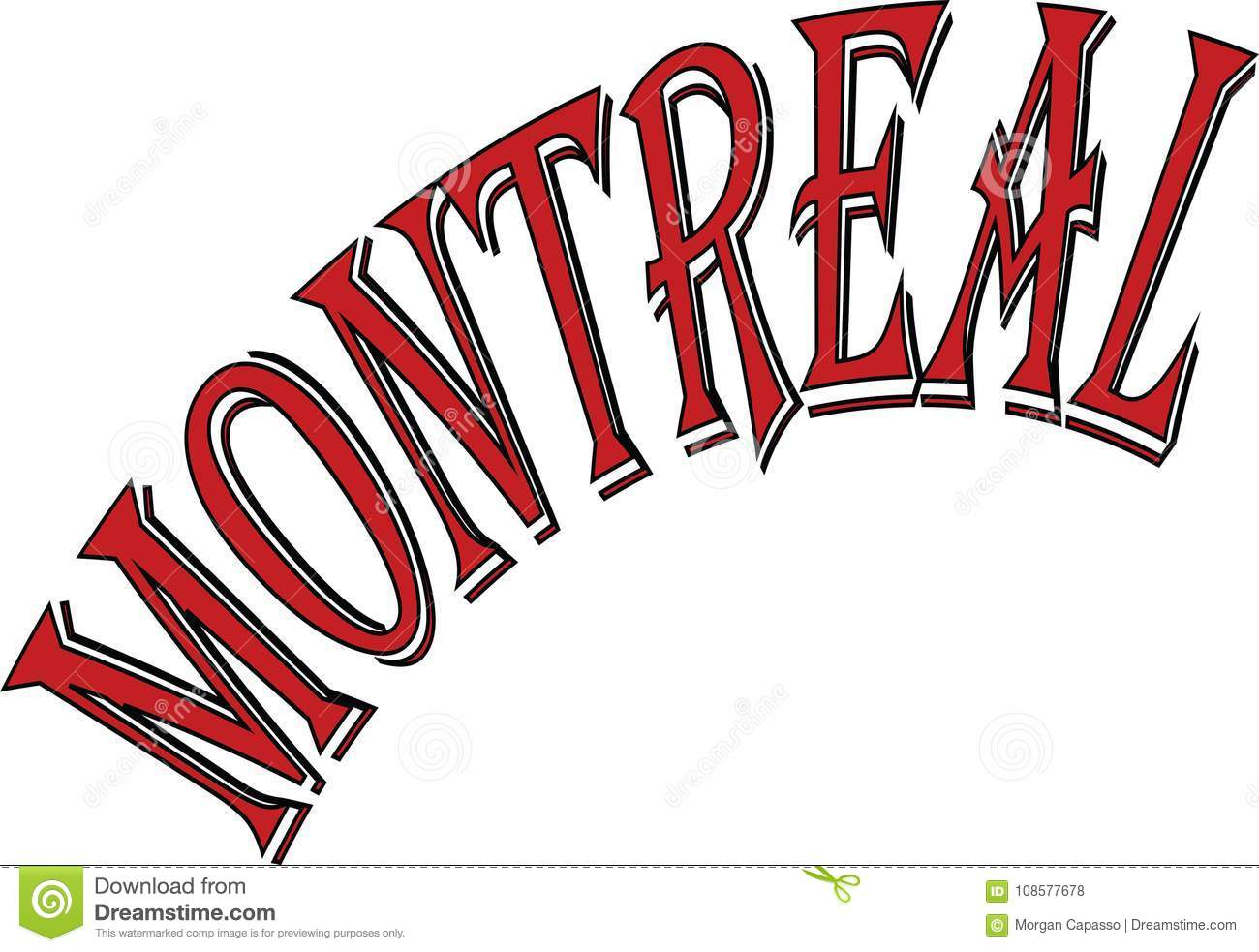 Download Montreal Text Sign Illustration Stock Vector - Illustration of downtown, modern: 108577678