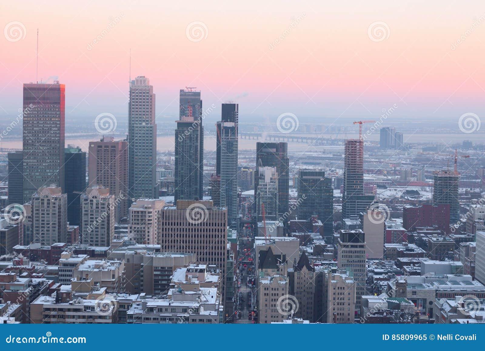 Montreal winter evening