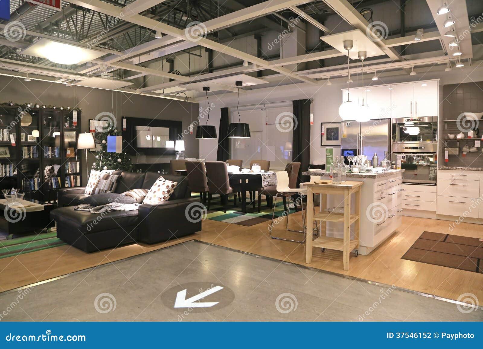 montrez la pi ce l 39 int rieur du magasin d 39 ikea photographie ditorial image 37546152. Black Bedroom Furniture Sets. Home Design Ideas