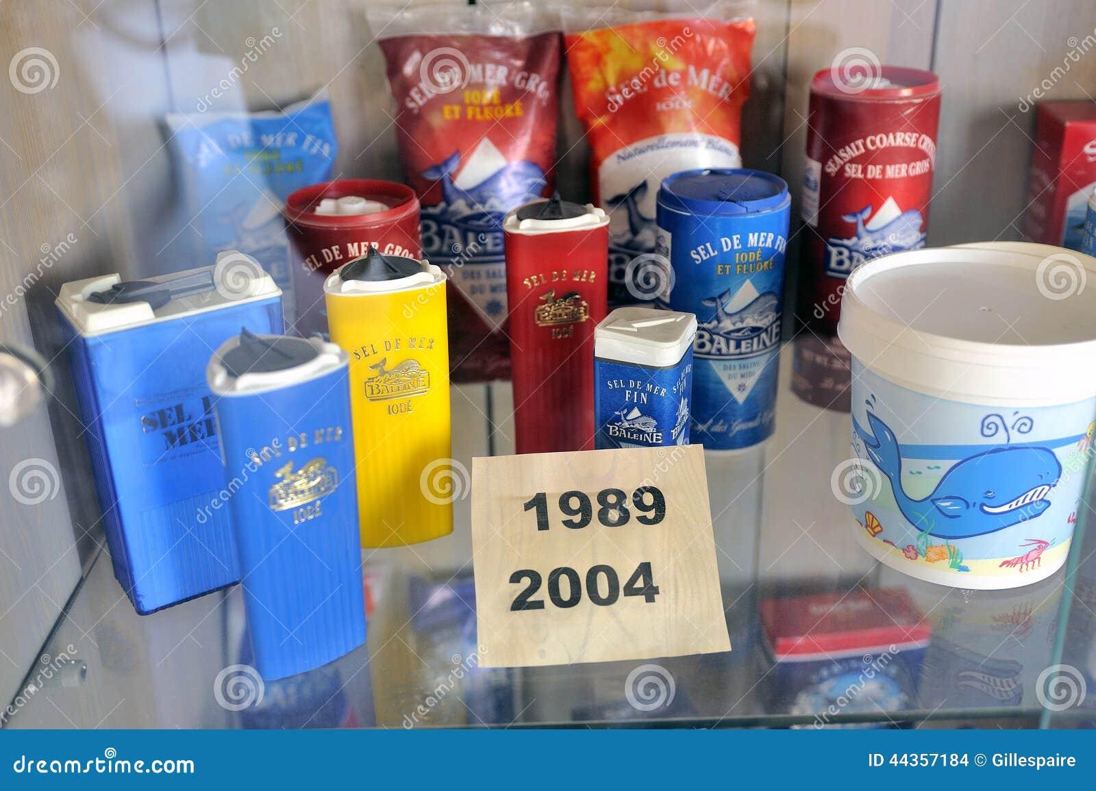 Montri la raccolta dell imballaggio del sale marino