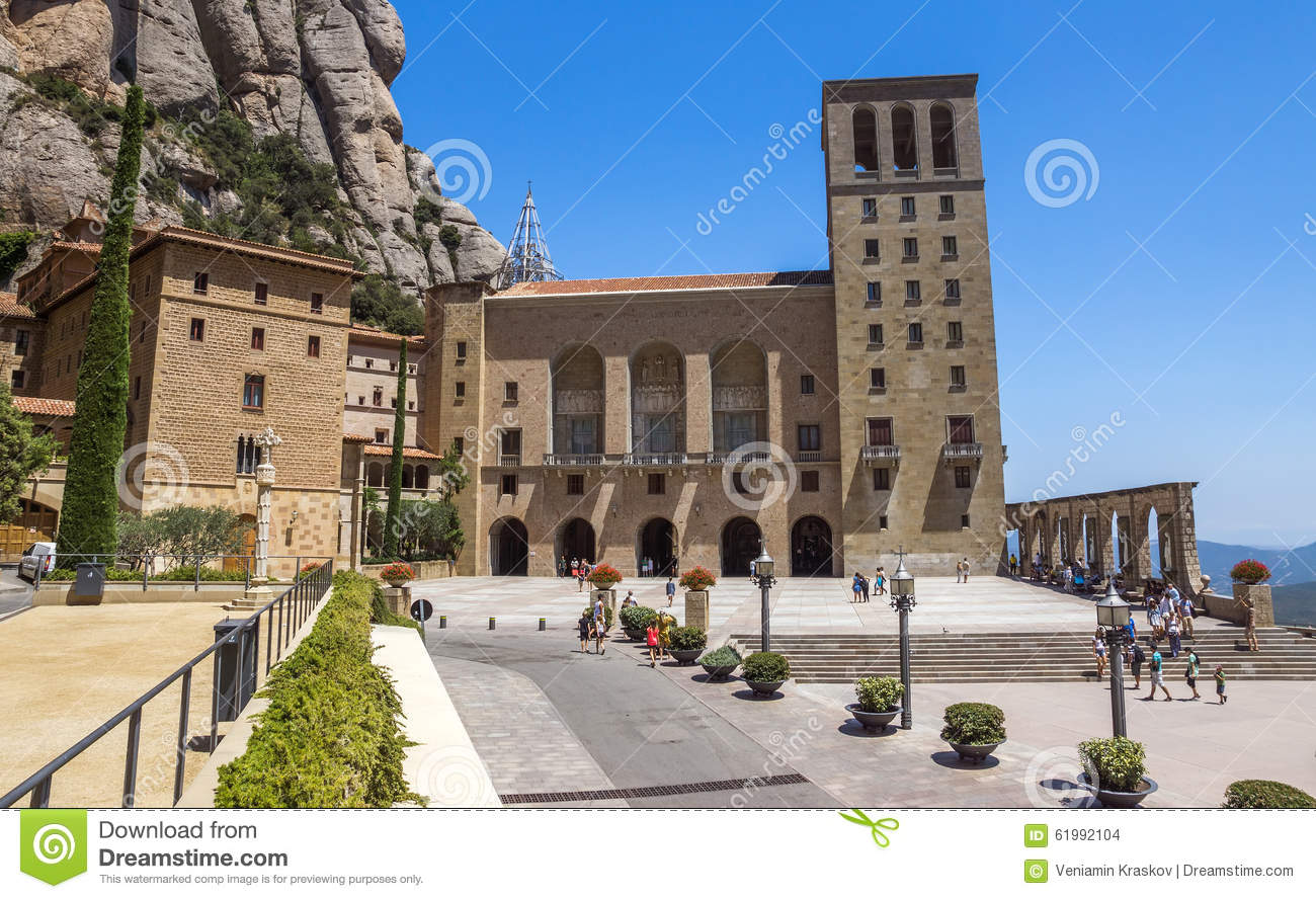 Map Of Spain Near Barcelona.Montserrat Monastery Near Barcelona Editorial Stock Image Image Of