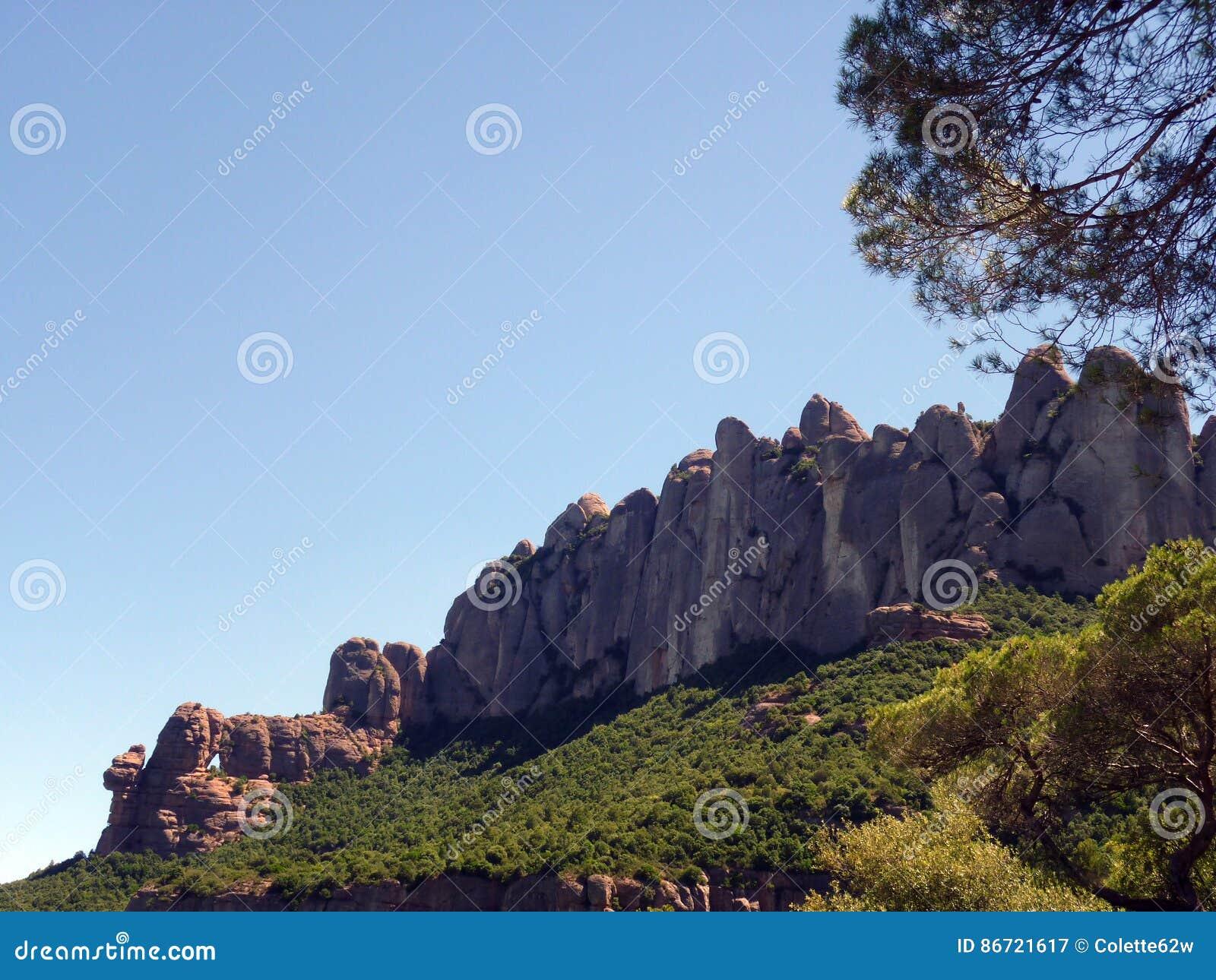 Montserrat Mountain, região de Barcelona, Espanha