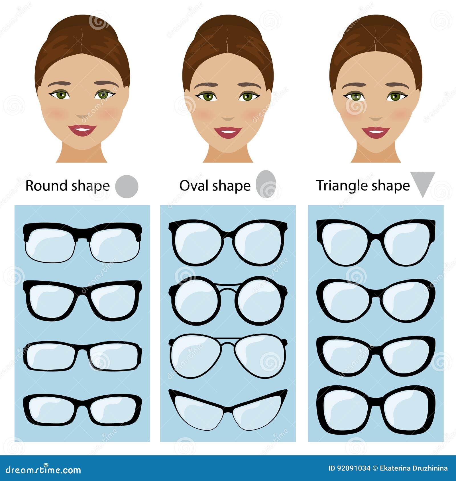 montures de lunettes pour des formes de visage de femmes. Black Bedroom Furniture Sets. Home Design Ideas