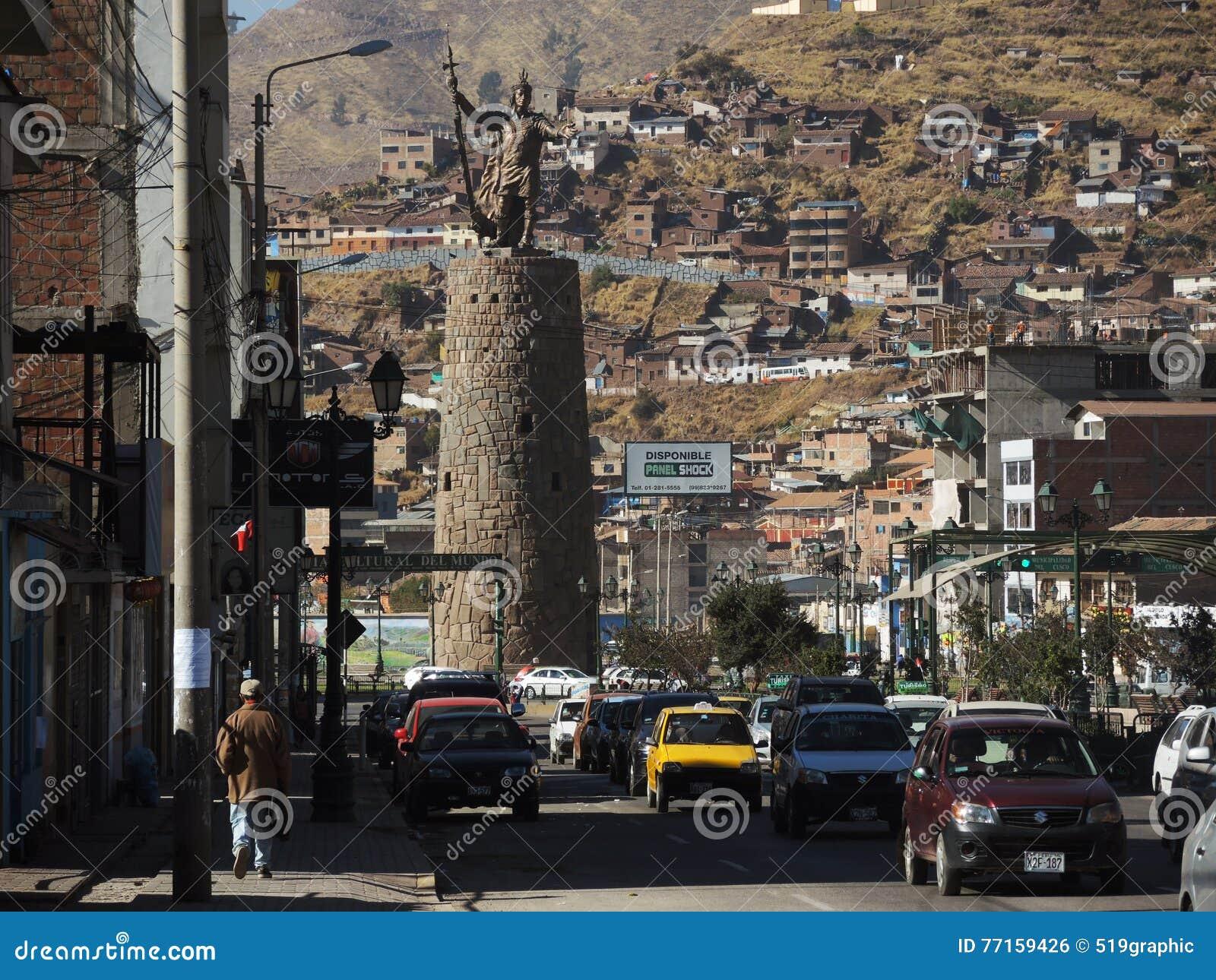 Monument à l Inca, Cusco, Pérou