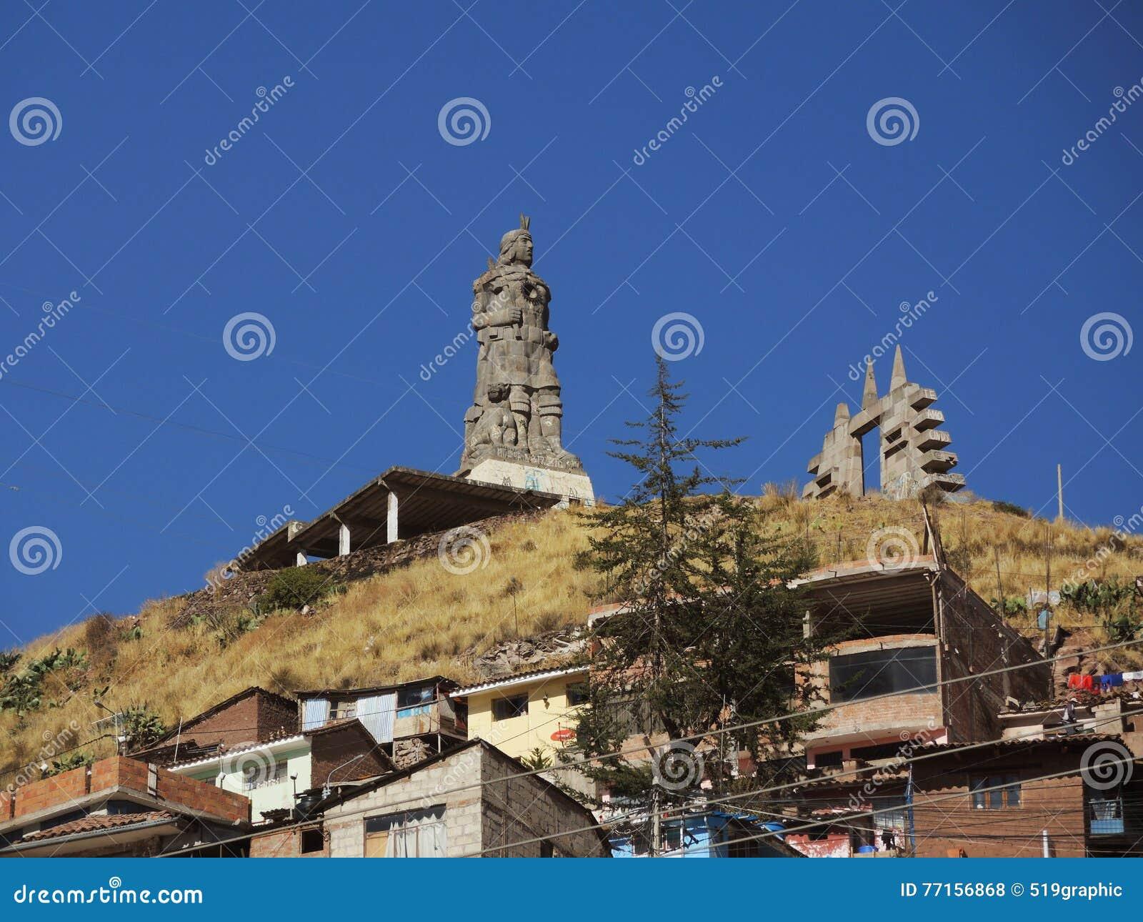 Monument à l Inca dans Cusco, Pérou