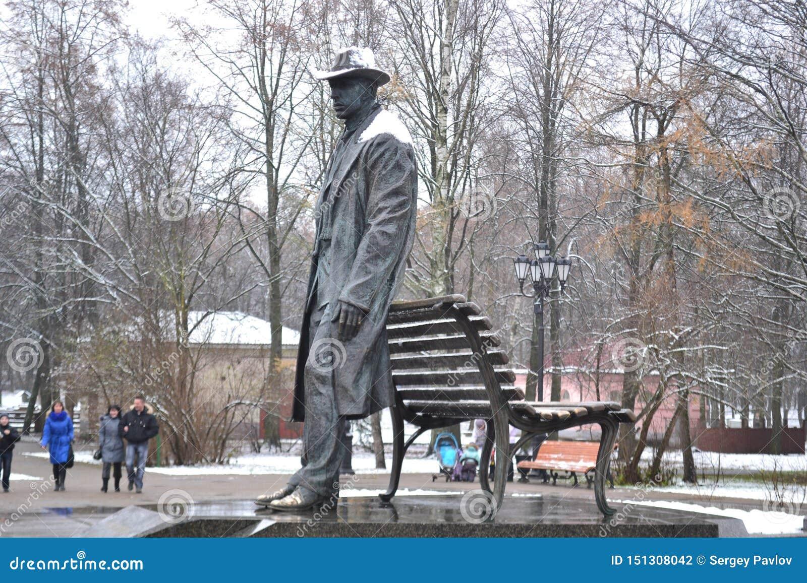 Monument à Sergey Rakhmaninov, musicien russe de greate 2009, ville de Velikiy Novgorod
