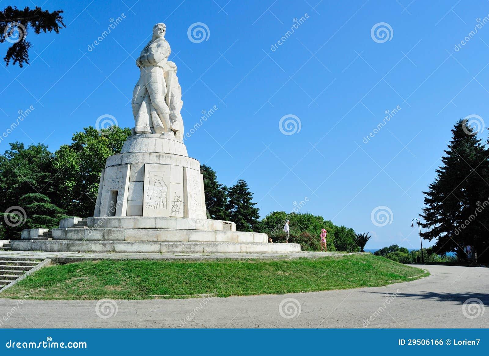 Monument aan Russische militairen in Varna, Bulgarije