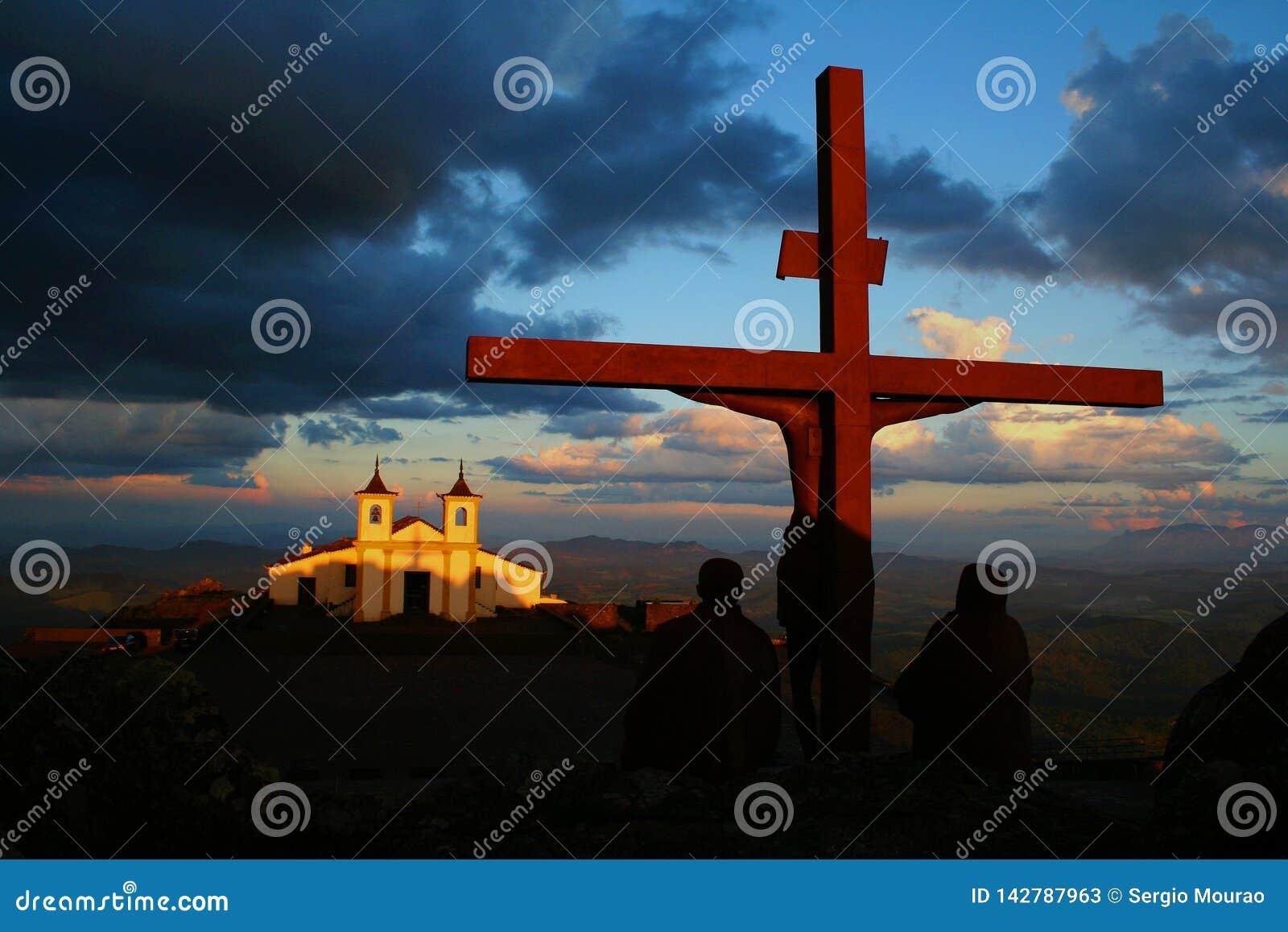 Monument de calvaire du Christ dans le sanctuaire de Serra da Piedade