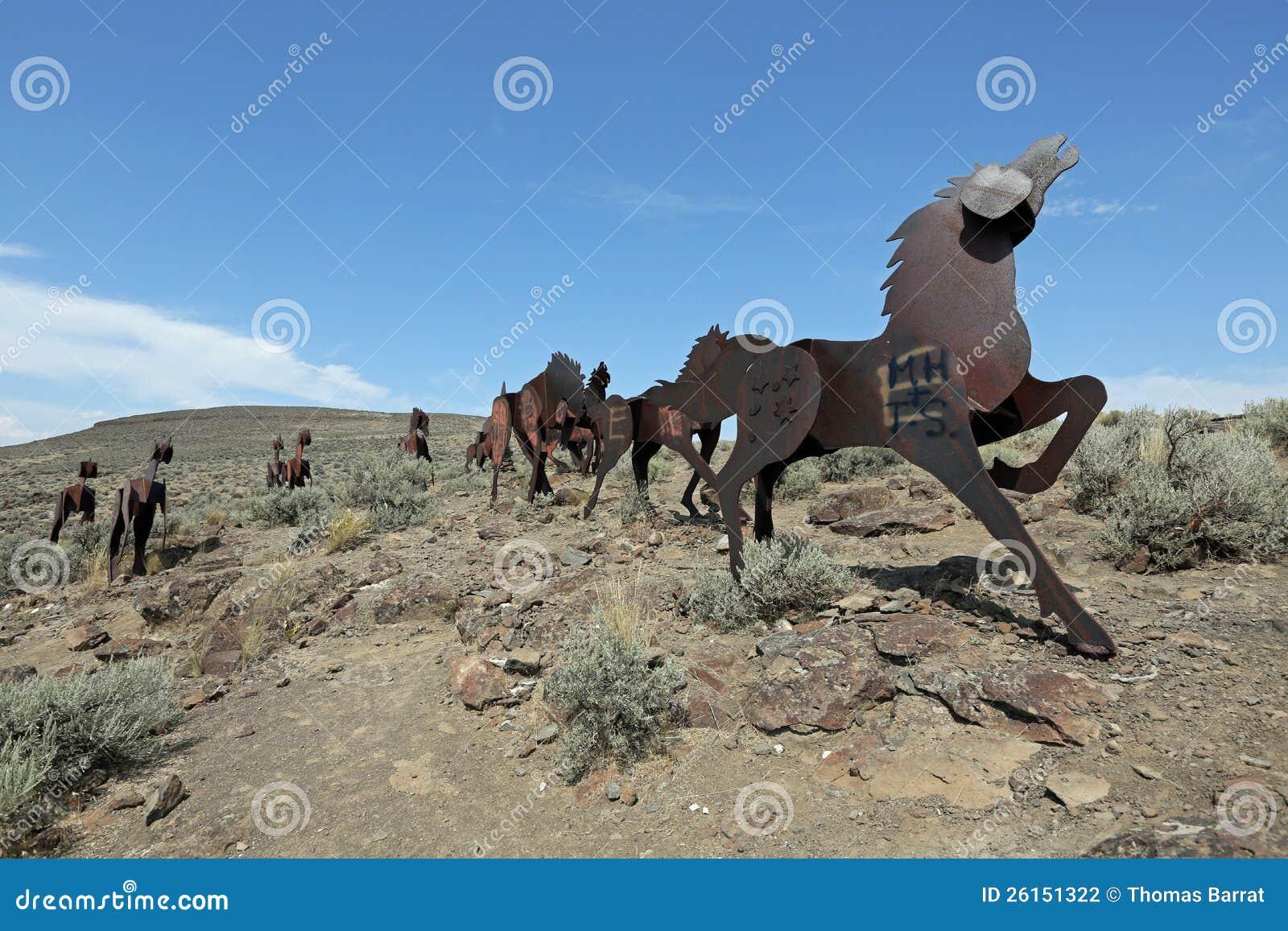 Monument de chevaux sauvages