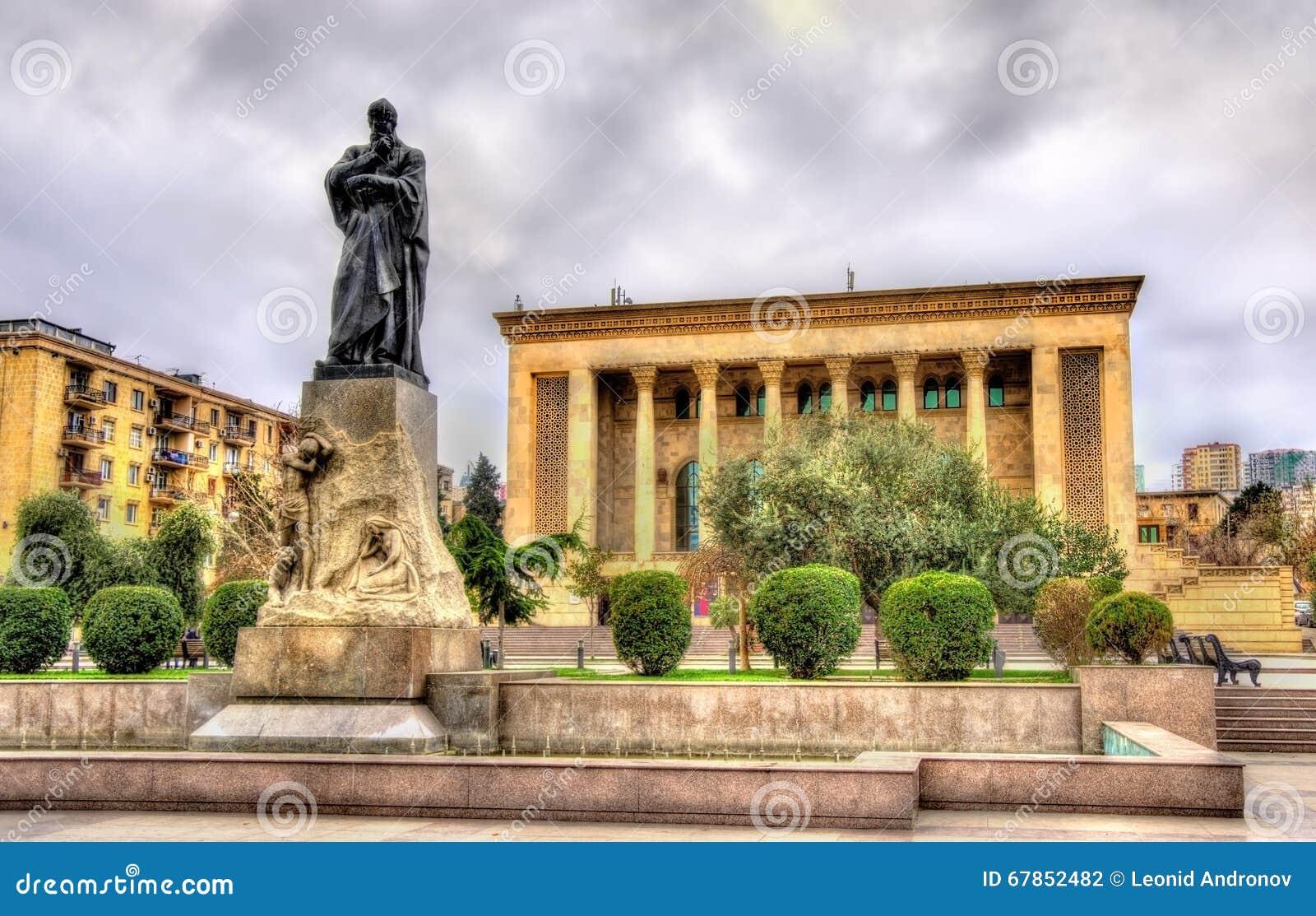 Monument de Fuzuli à Bakou