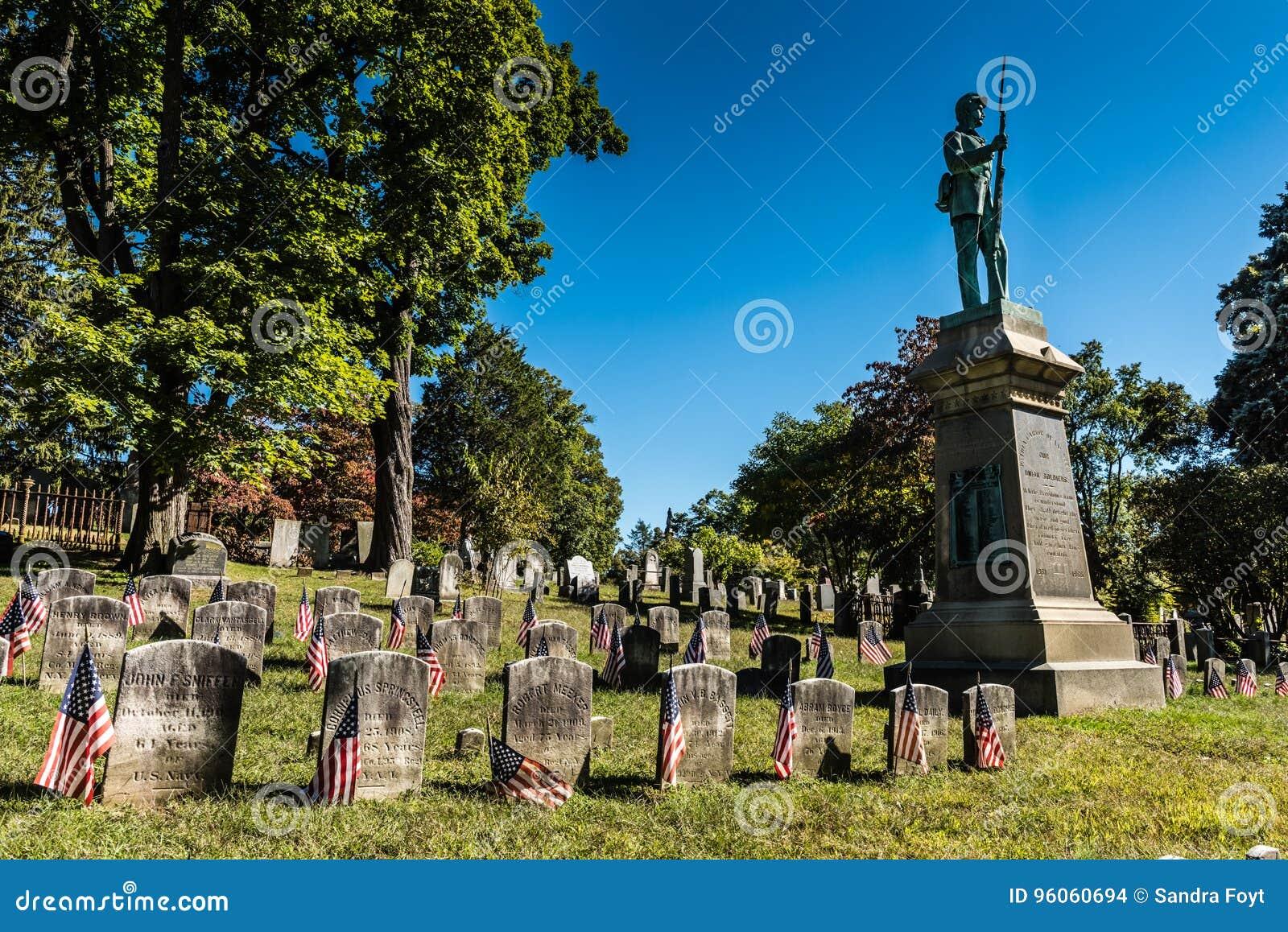 Monument de guerre civile - cimetière creux somnolent - cavité somnolente, NY