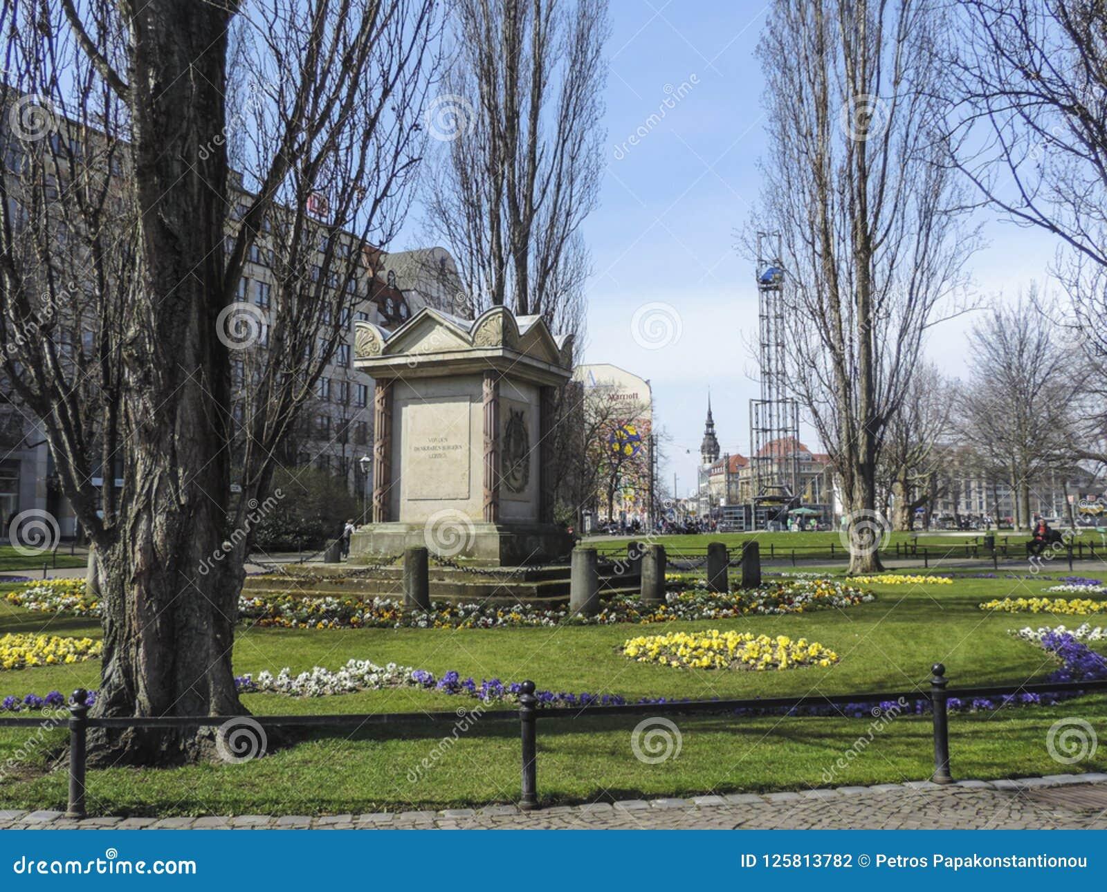 Monument de maire Carl Wilhelm Muller Denkmal de Leipzig en parc d untere de der