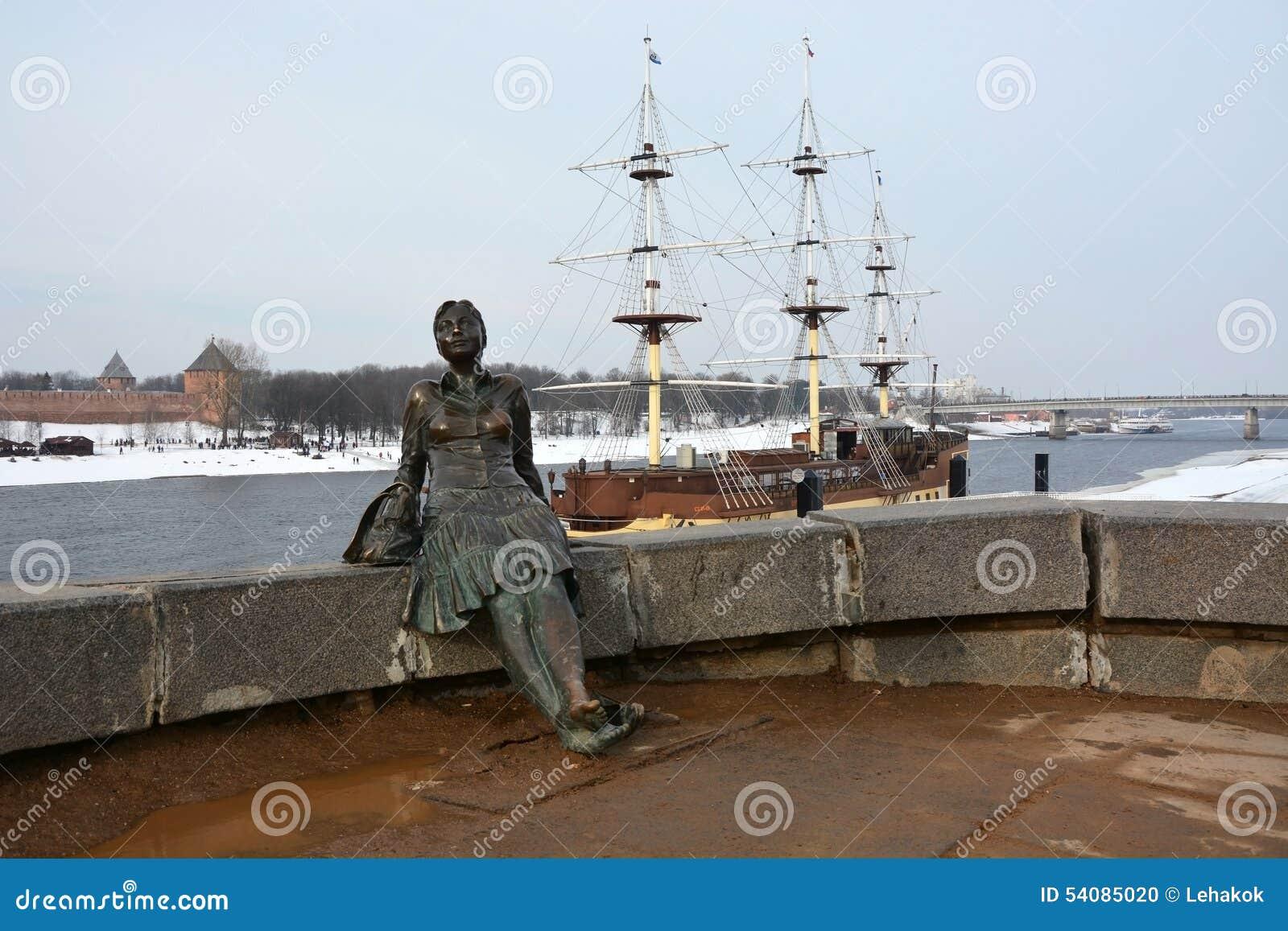 Monument, genoemd Vermoeide vrouwentoerist