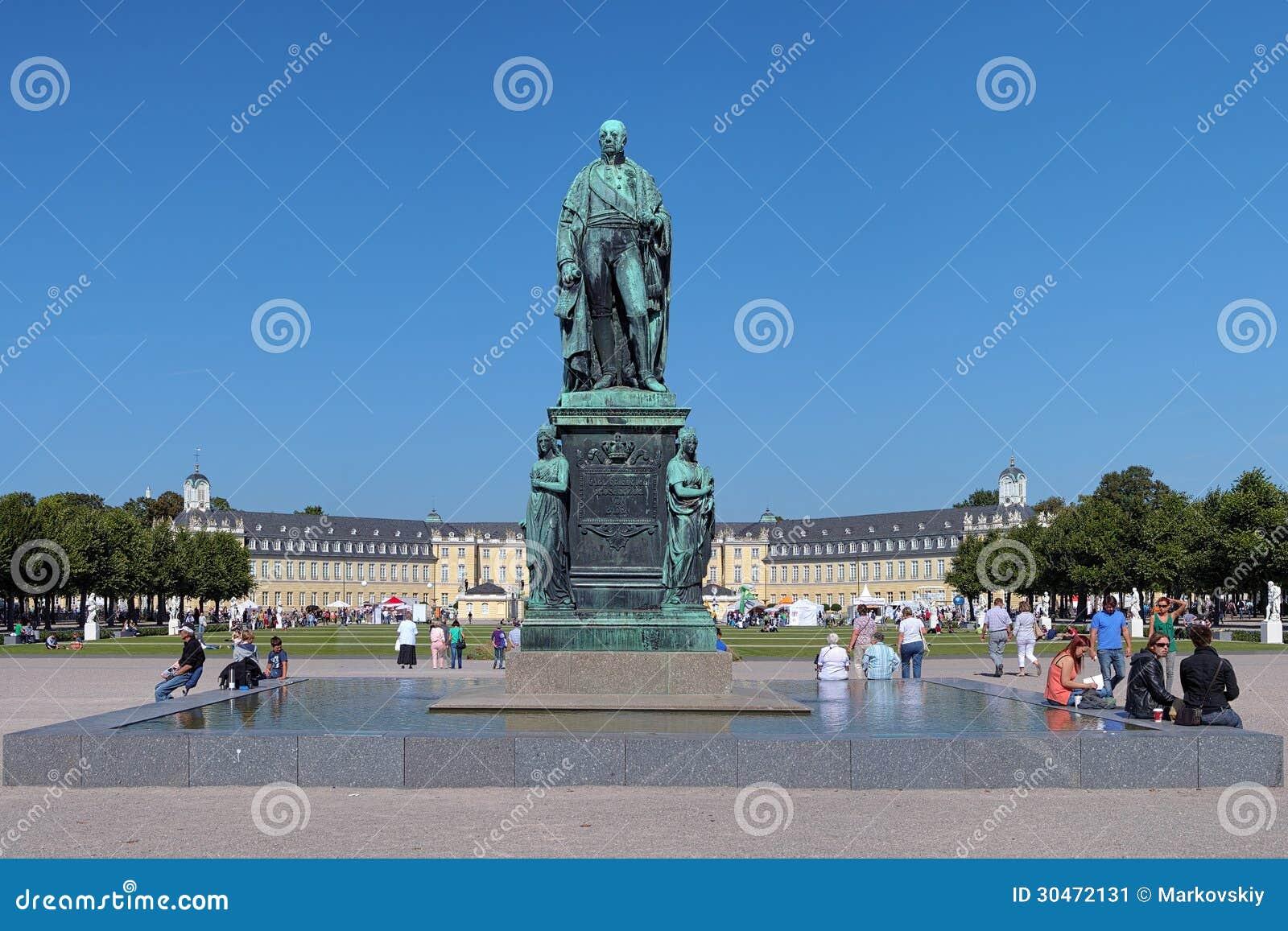 Monument of Karl Friedrich von Baden in Karlsruhe