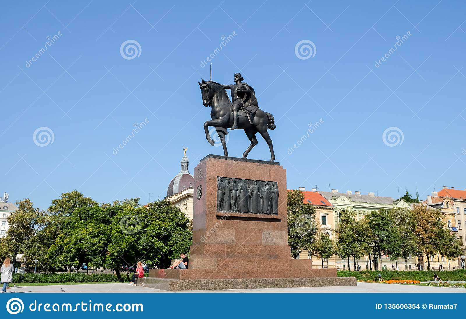 The Monument Of Kralj Tomislav First King Of Croatia Editorial