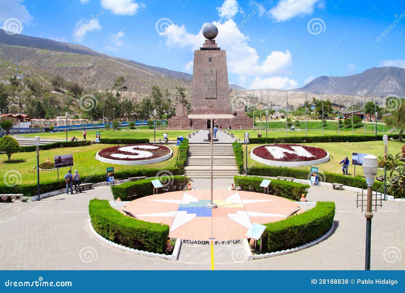 Monument Mitad Del Mundo nahe Quito in Ecuador