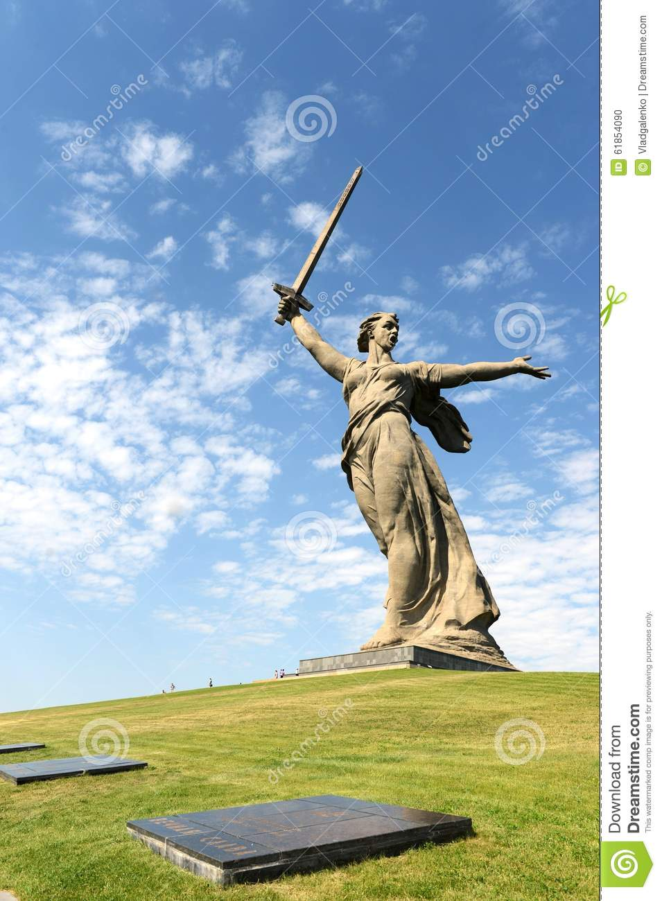 The monument the Motherland calls in Volgograd