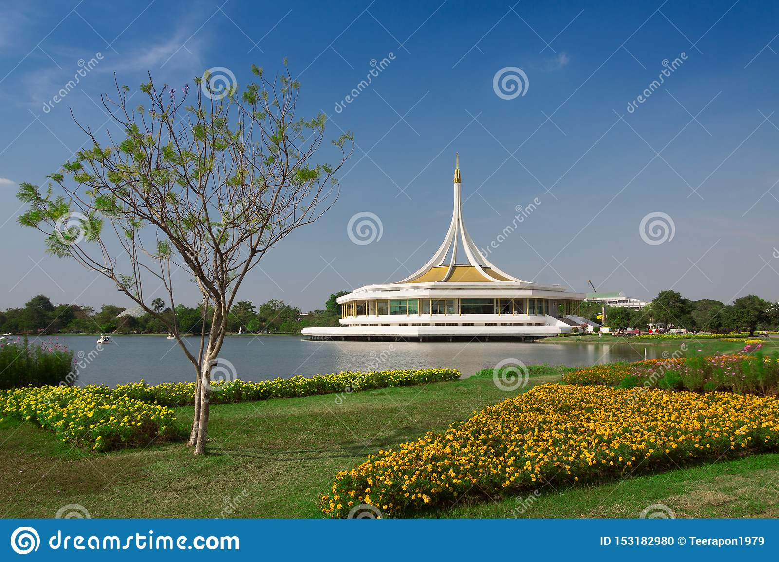Popularly known as Bangkok Suan Luang King Rama IX Park, this 200- Poured with trees, flowers, shrubs, landscaped gardens and lakes,