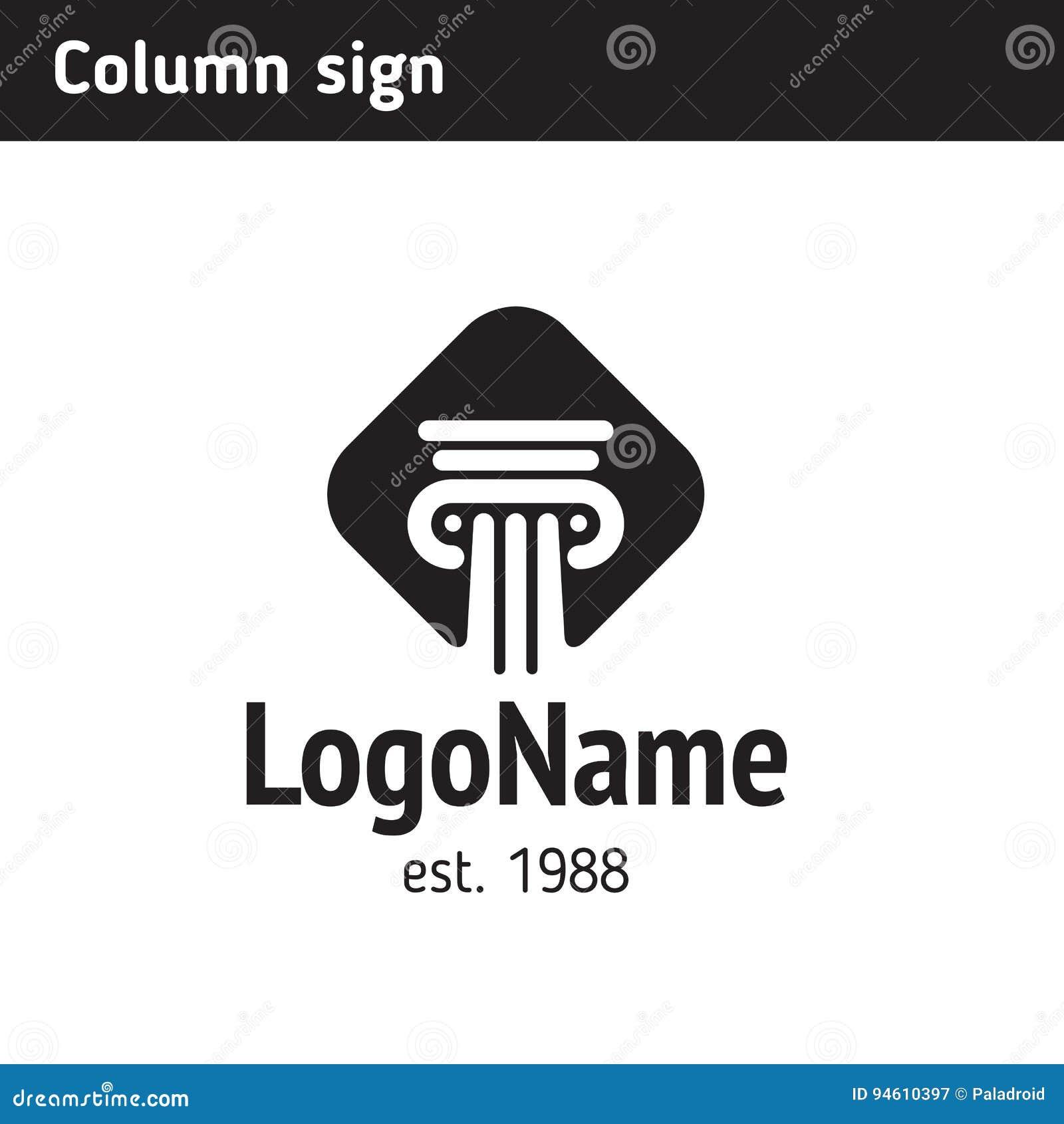 Monument simple de logo