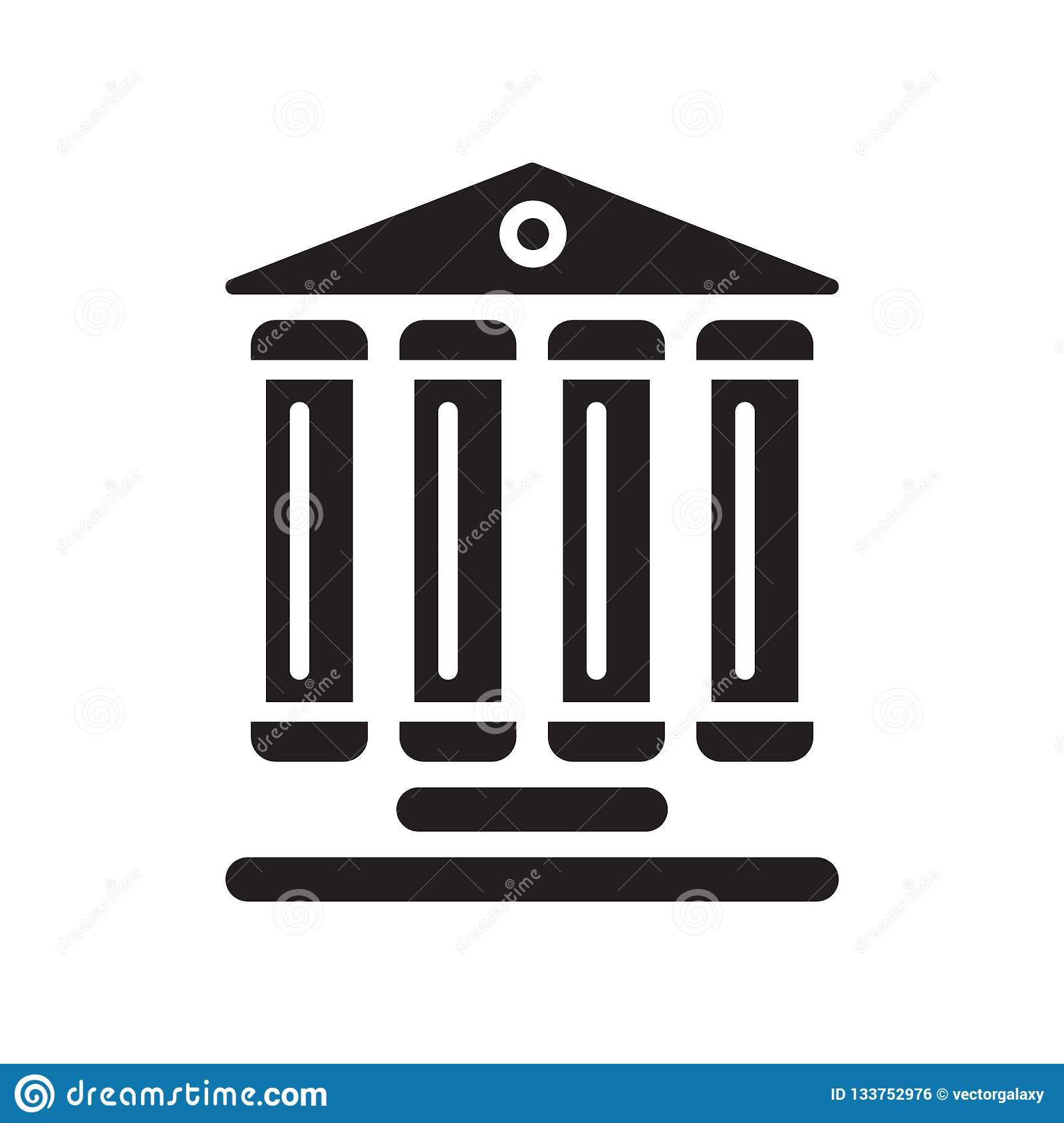 Monument site icon vector isolated on white background, Monument