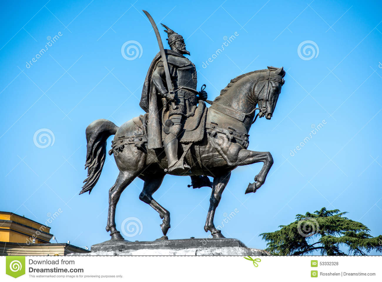 Monument of Skanderbeg in Tirana