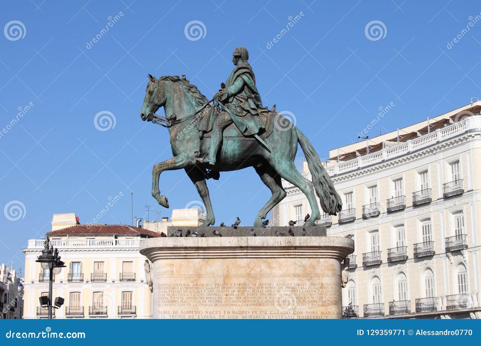 Monument till Charles III i Madrid