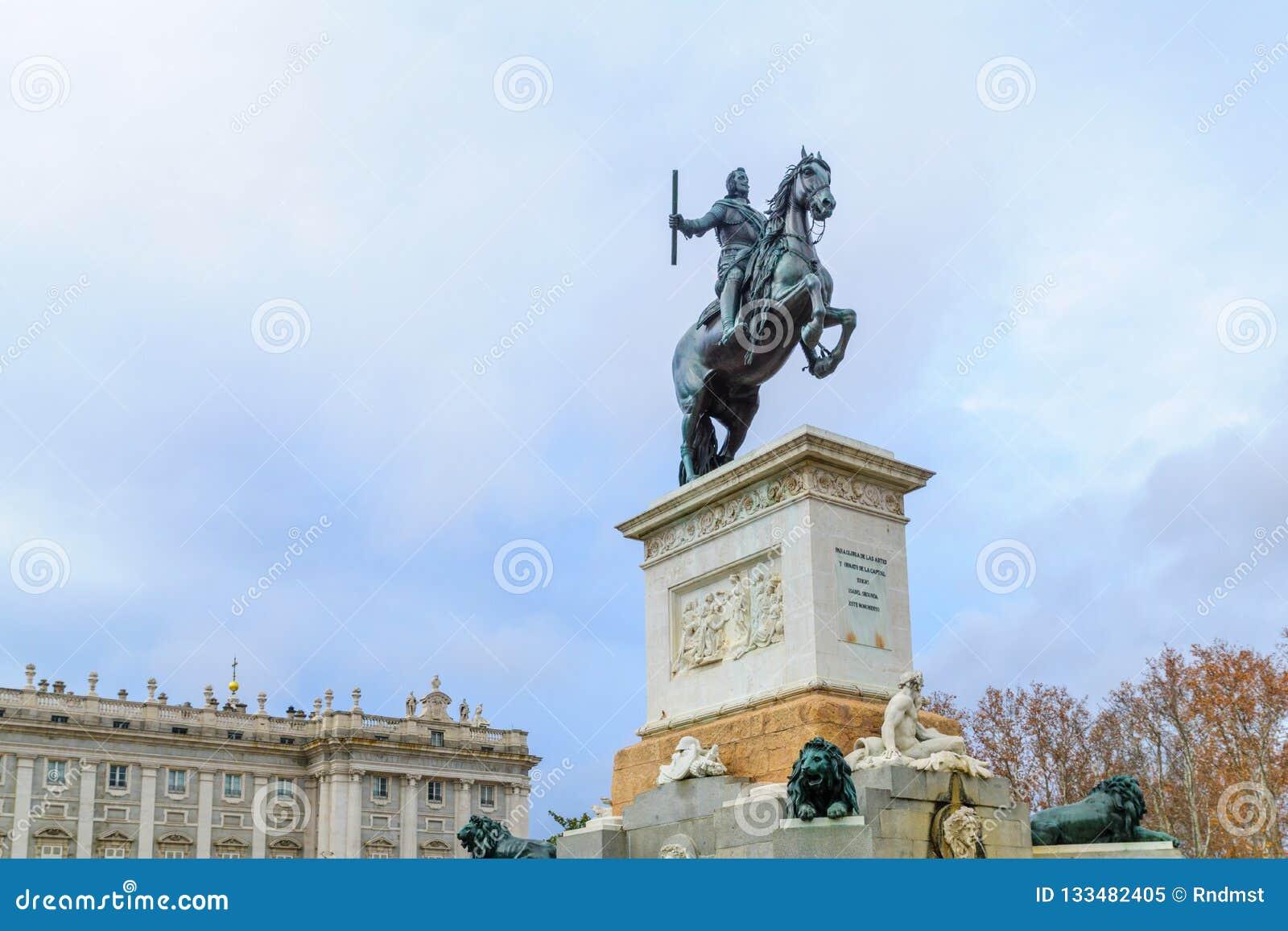 Monument till den Philip droppen, Madrid