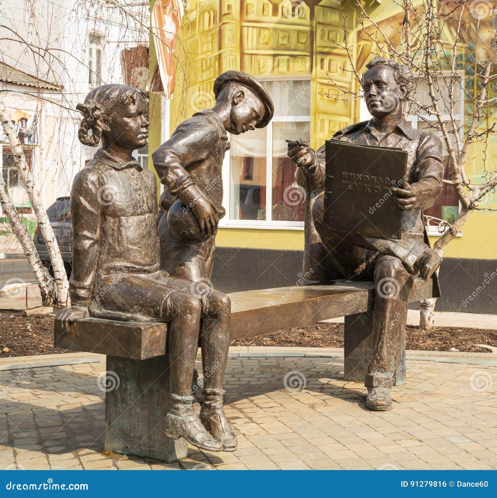 Monument till den ryska konstnären Nikolai Zhukov