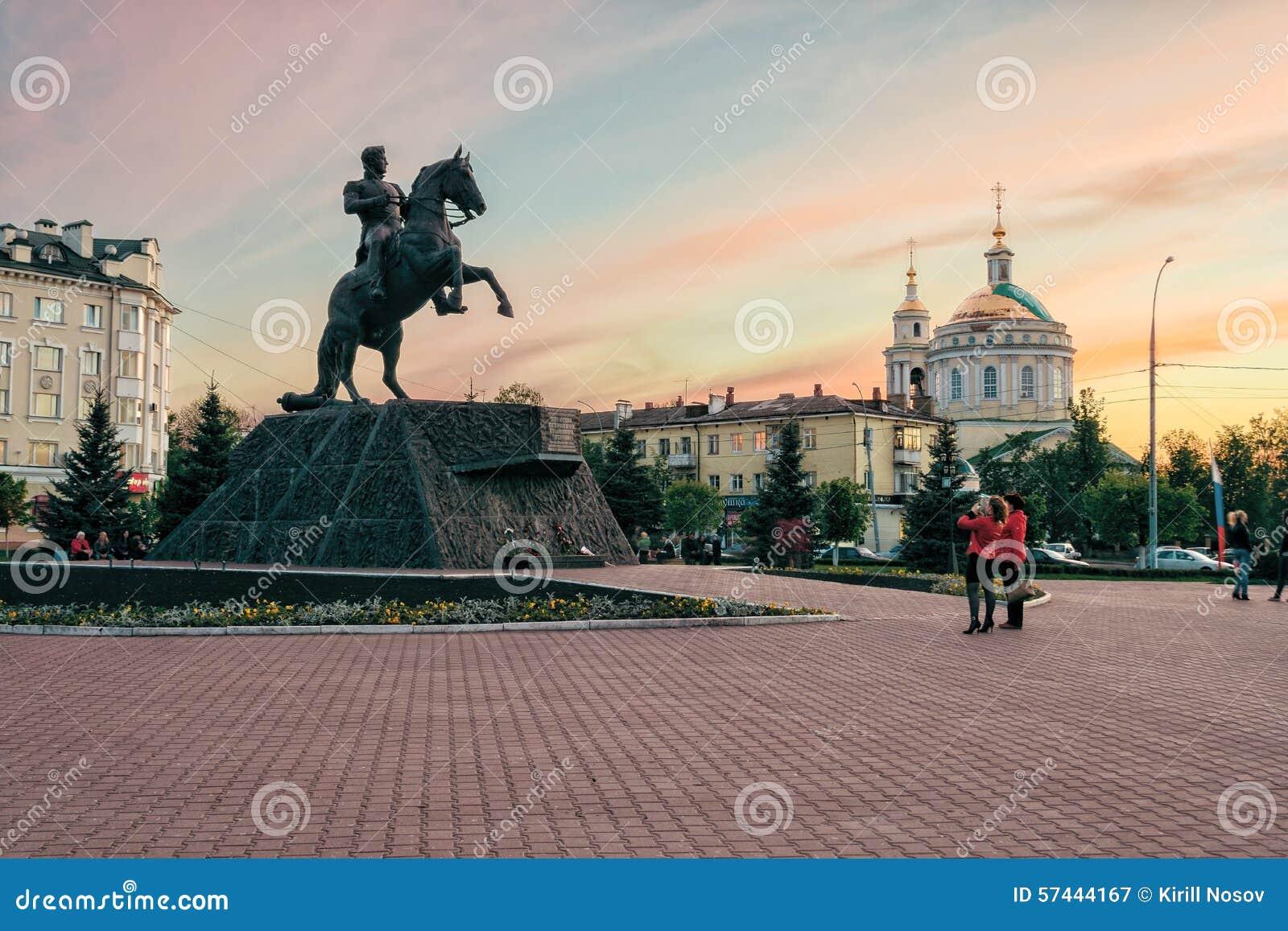 Monument till general Yermolov, Orel stad, Ryssland
