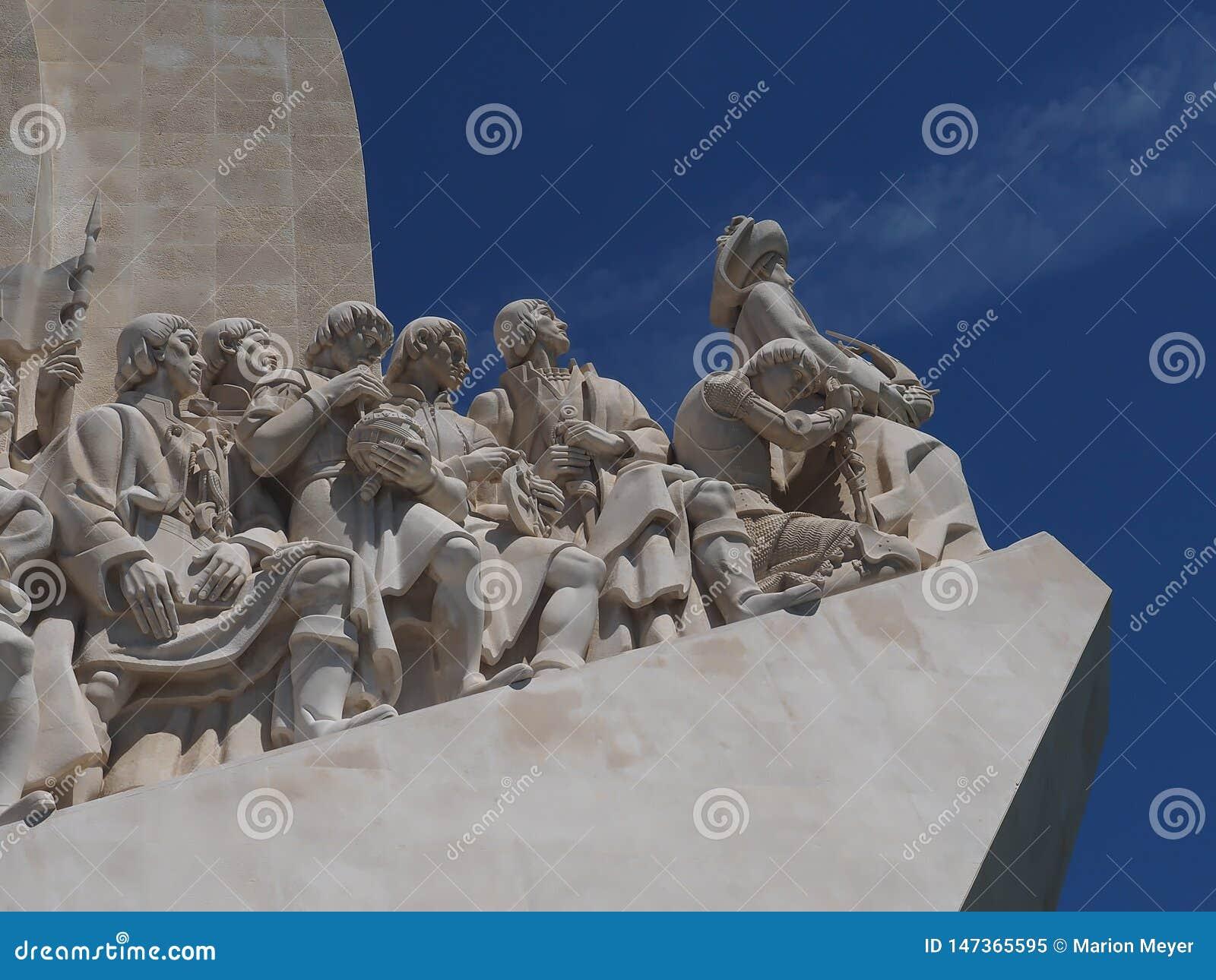 Monument till uppt?ckterna i Lissabon i Portugal