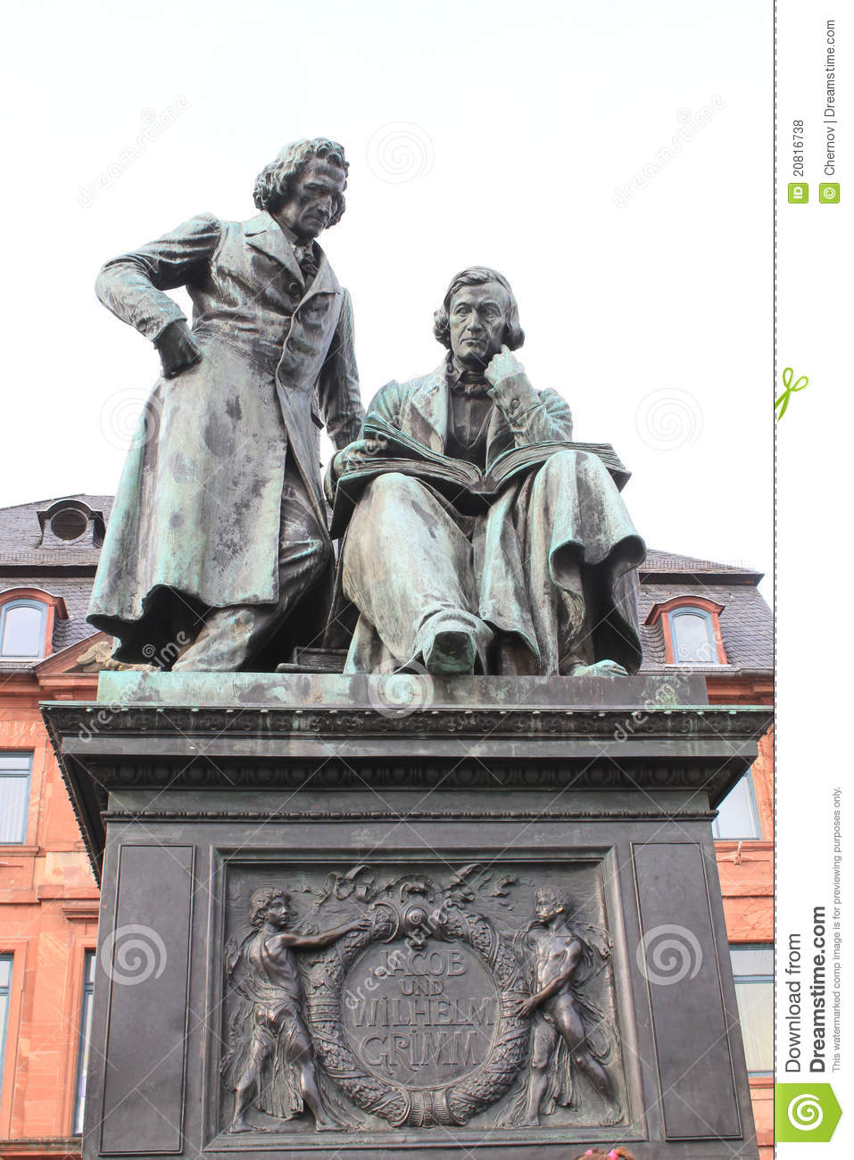 Monument to the brothers Grimm in Hanau, Germany.