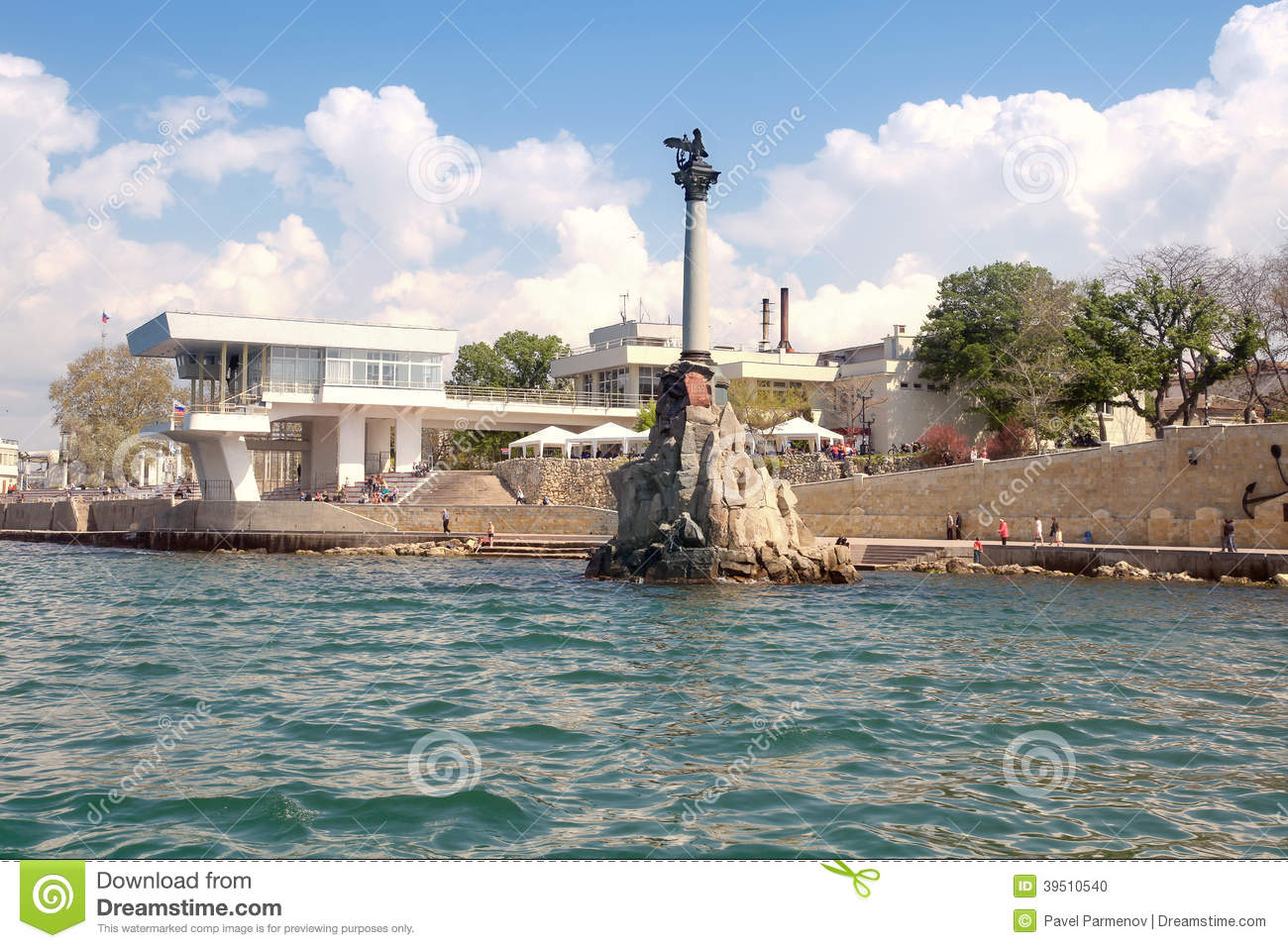 Monument to the flooded ships.