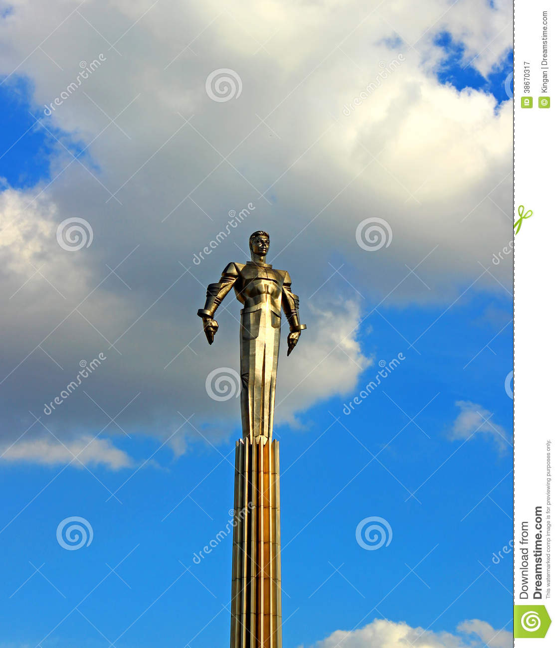 Monument to gagarin editorial image for Flying spaces