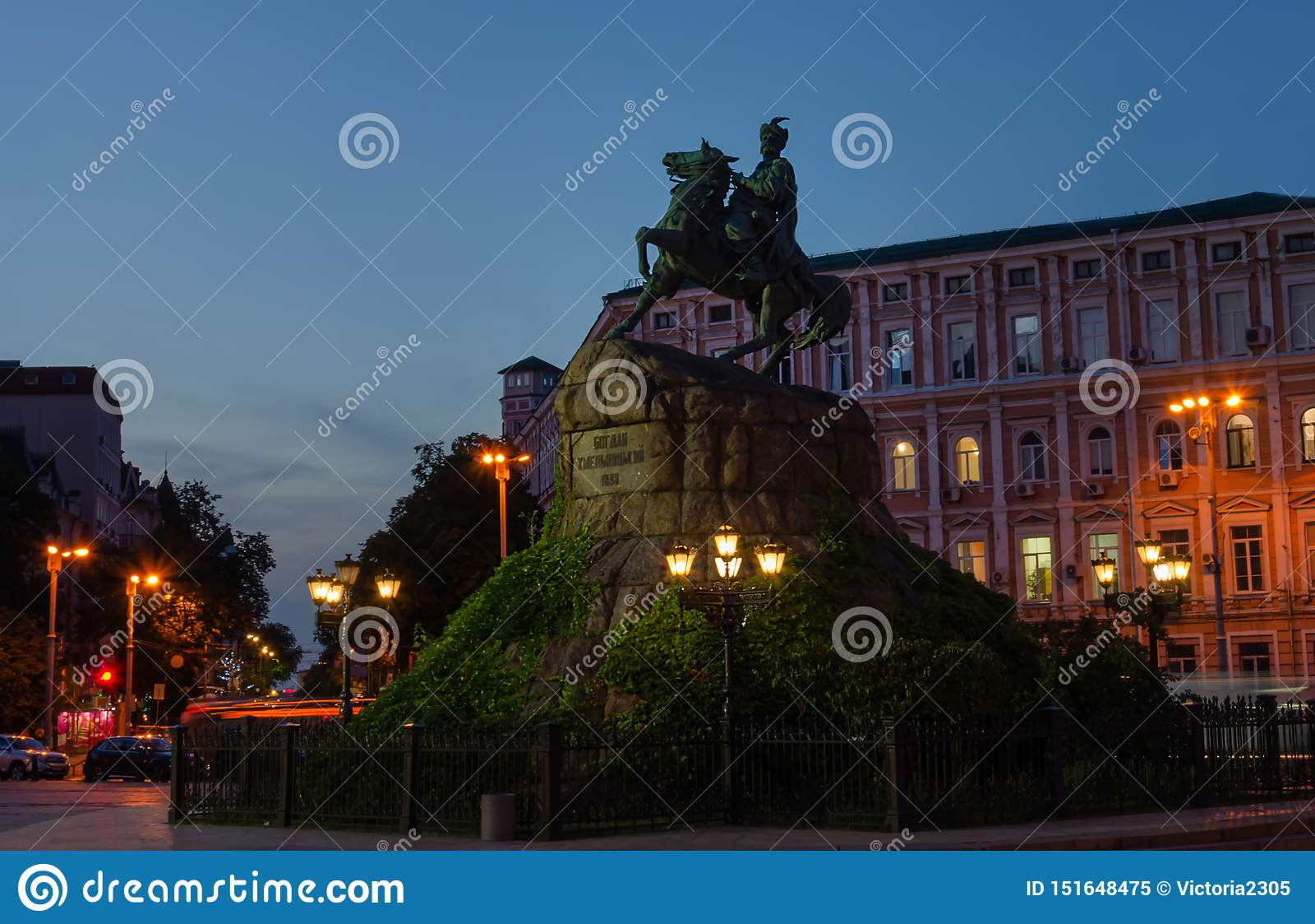 Monument to Hetman Bogdan Khmelnitsky on Sofia Square, Kiev, Ukraine
