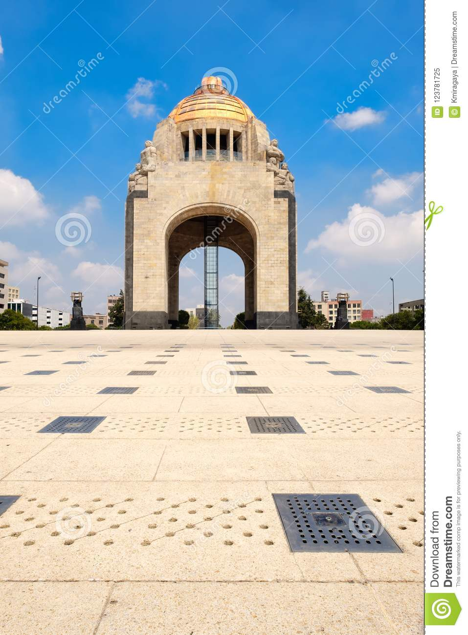 The Monument To The Revoiution In Mexico City Stock Image Image Of