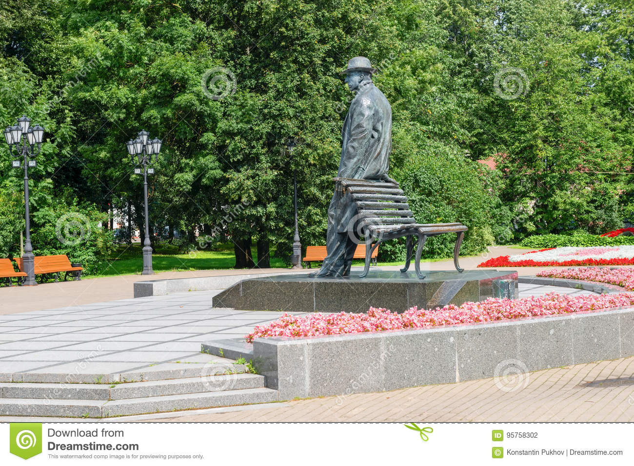 Monument To Sergei Rachmaninoff Editorial Photography