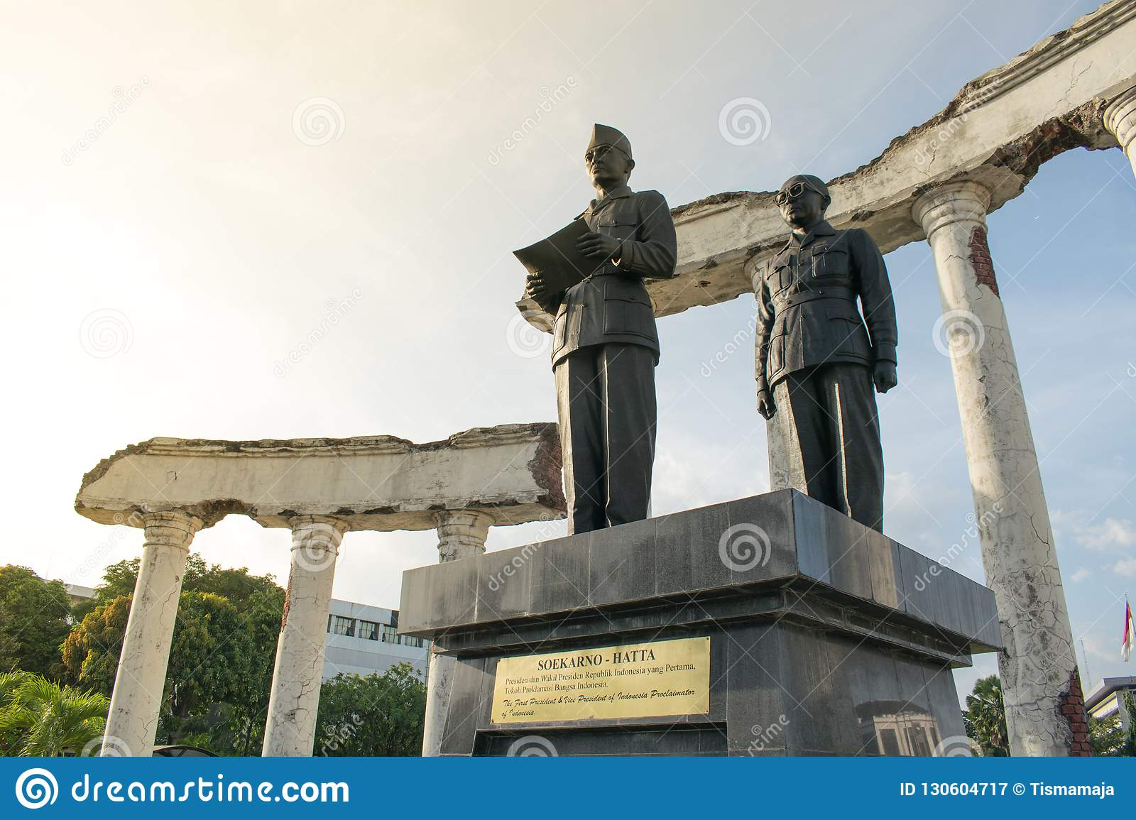 Surabaya, Indonesia - October 2018: monument to Sukarno, the former president of Indonesia