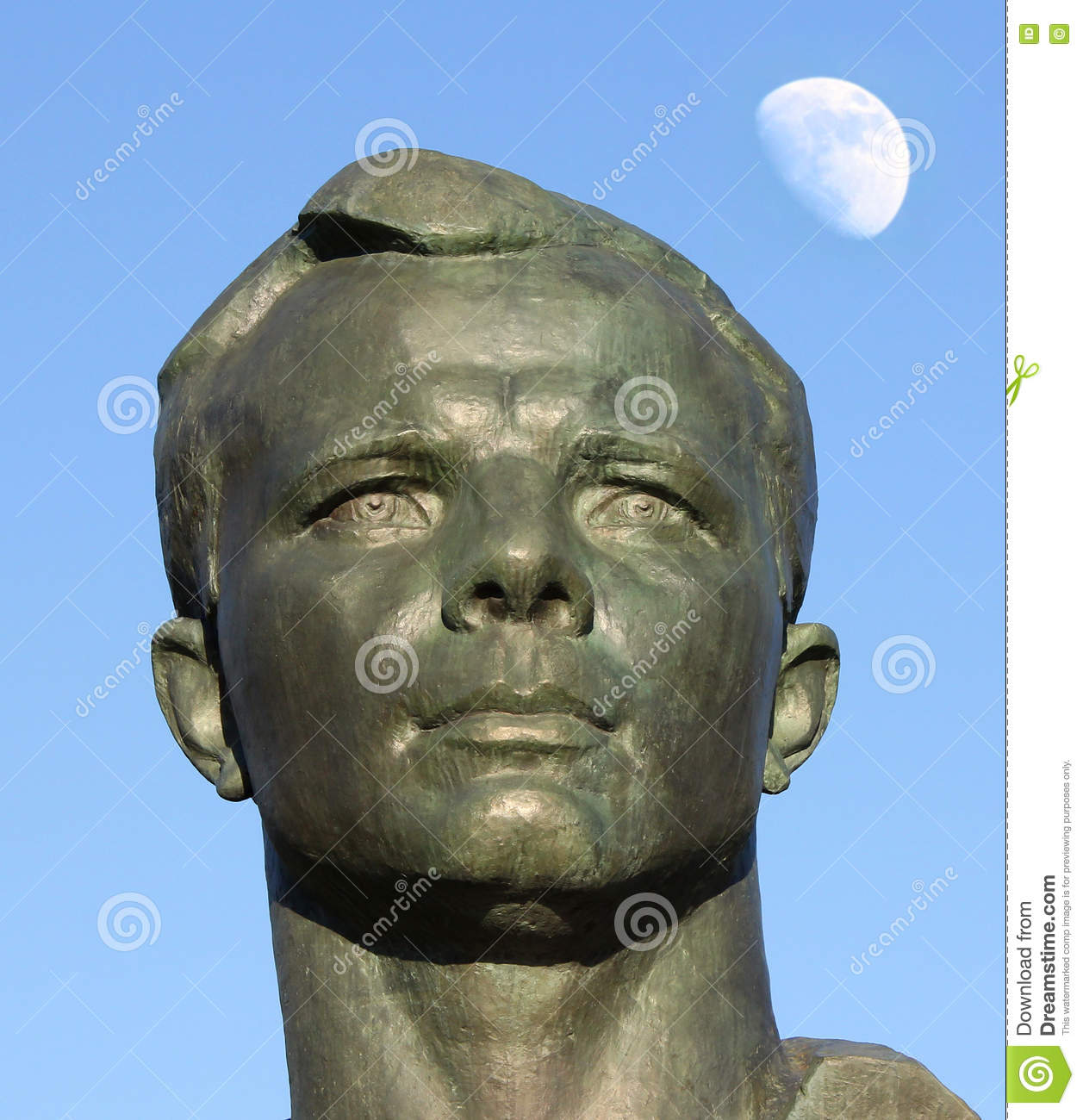 Monument to Yuri Gagarin in the Alley of Cosmonauts, Moscow, Russia