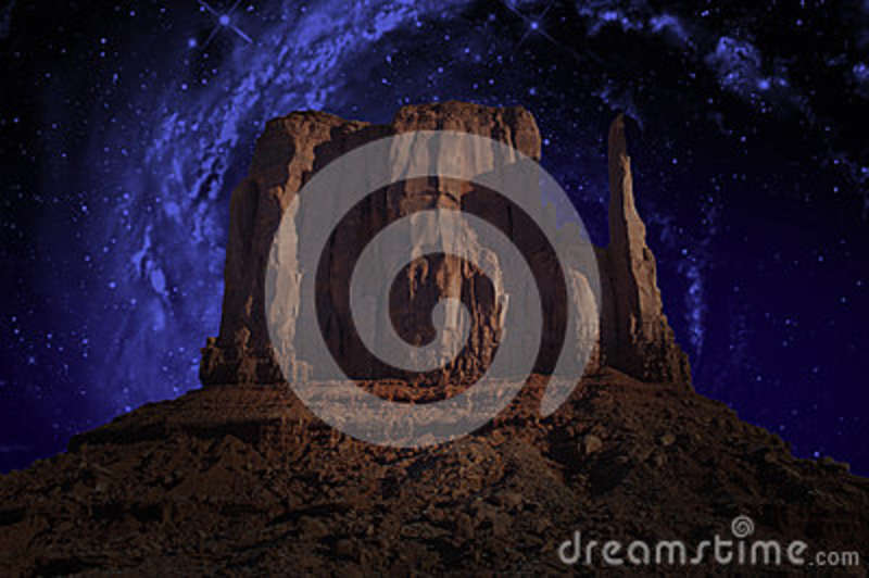 Monument Valley, Milky Way, Stars