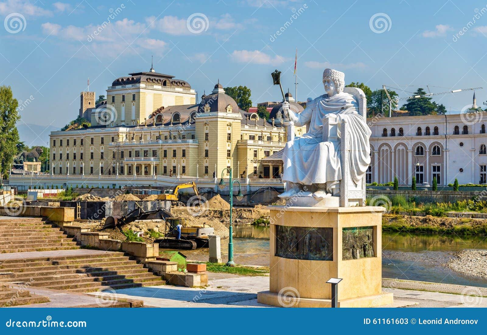 Monument von Justinian I in Skopje