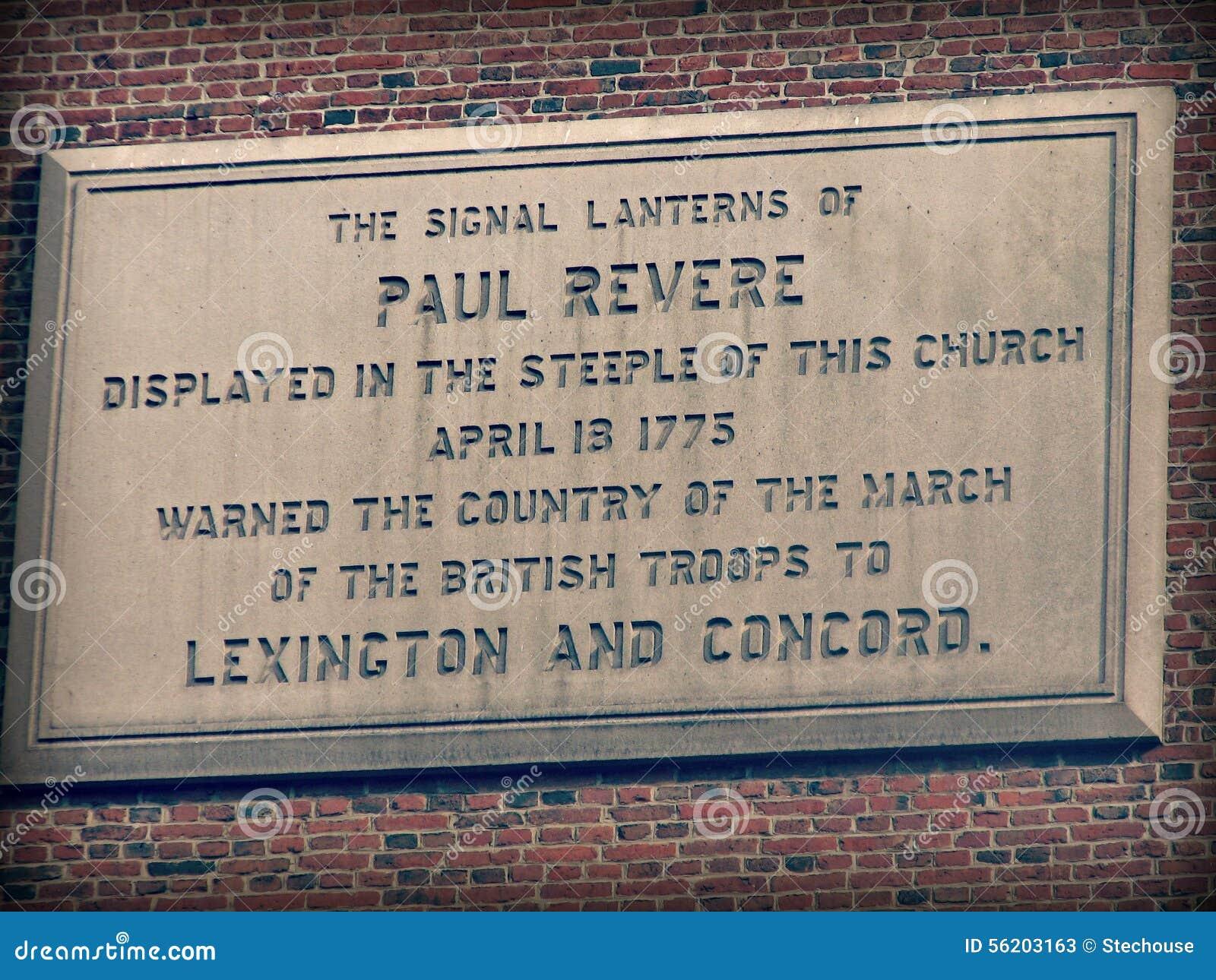 Monument zu Paul Revere in Boston, Massachusetts