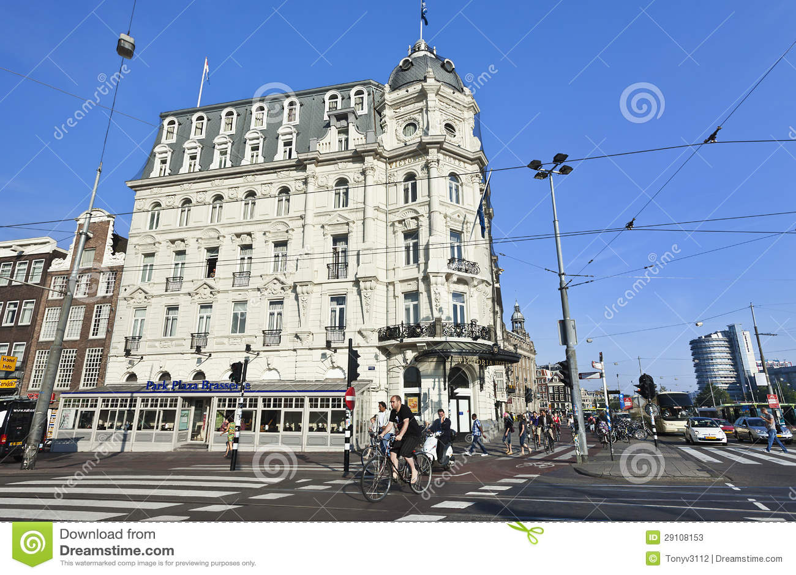 The Monumental Victoria Hotel In Amsterdam Editorial Stock