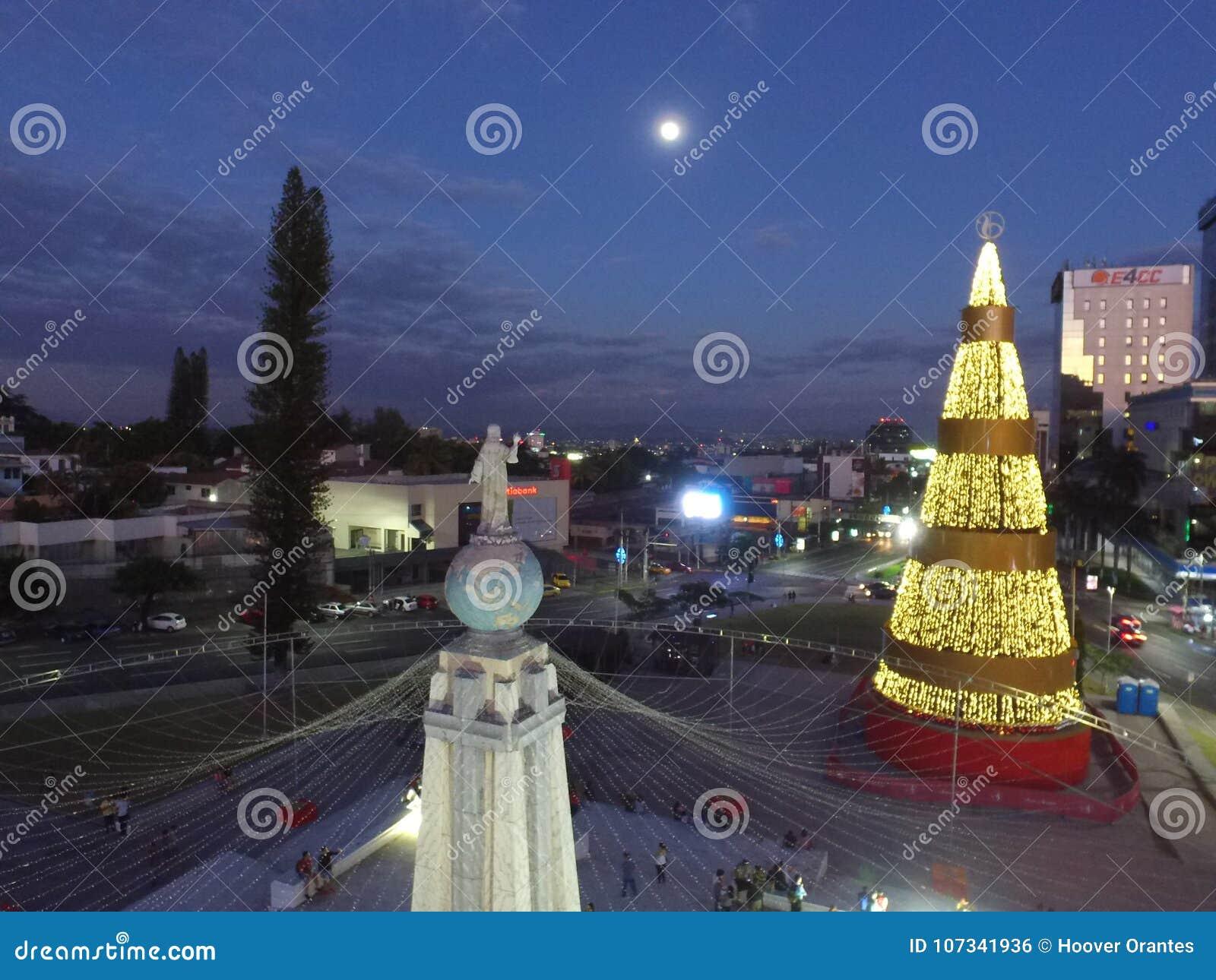 monumento al salvador del mundo stock photo image of evening
