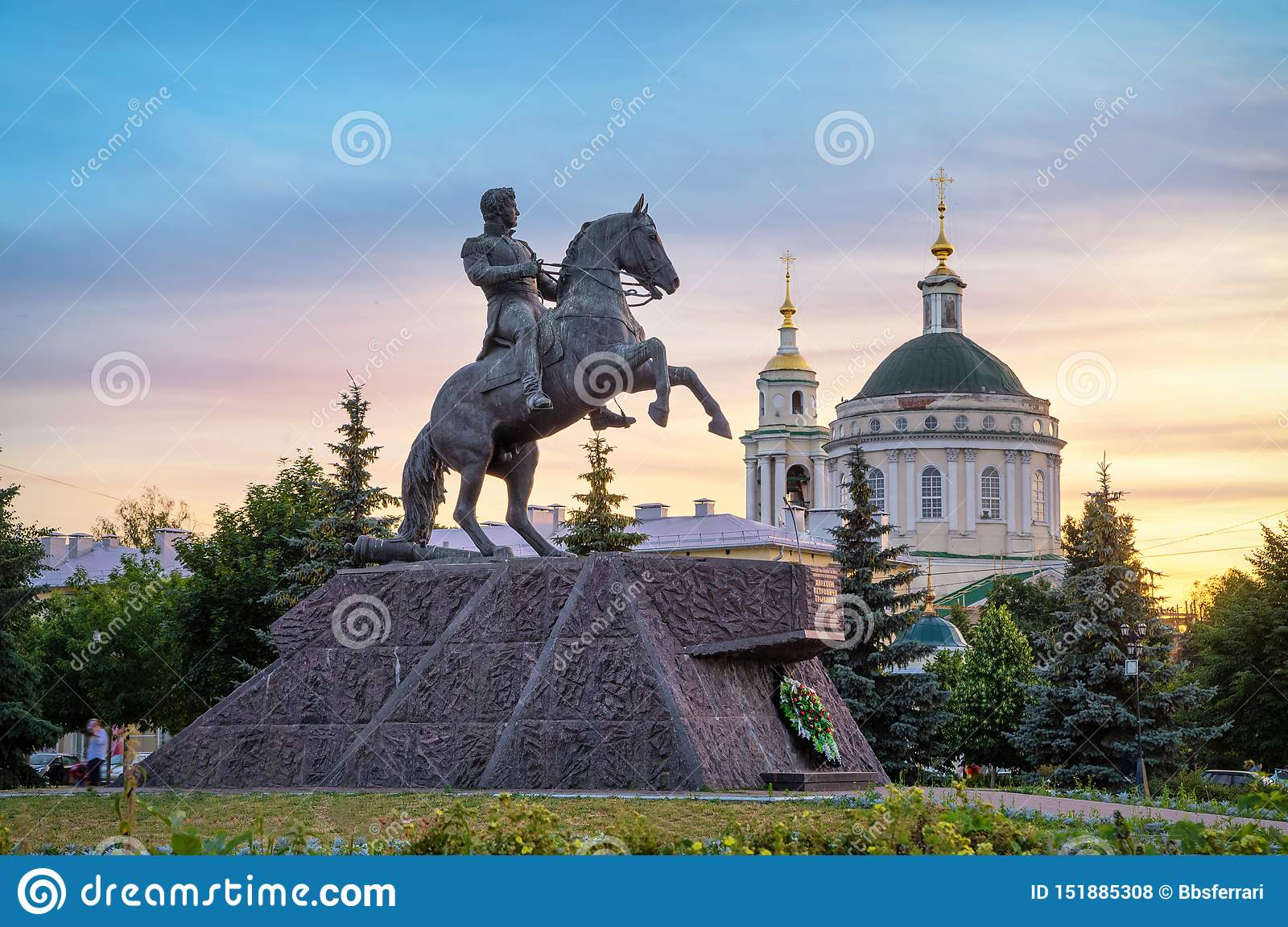 Monumento ao general Alexey Ermolov em Oryol, Rússia