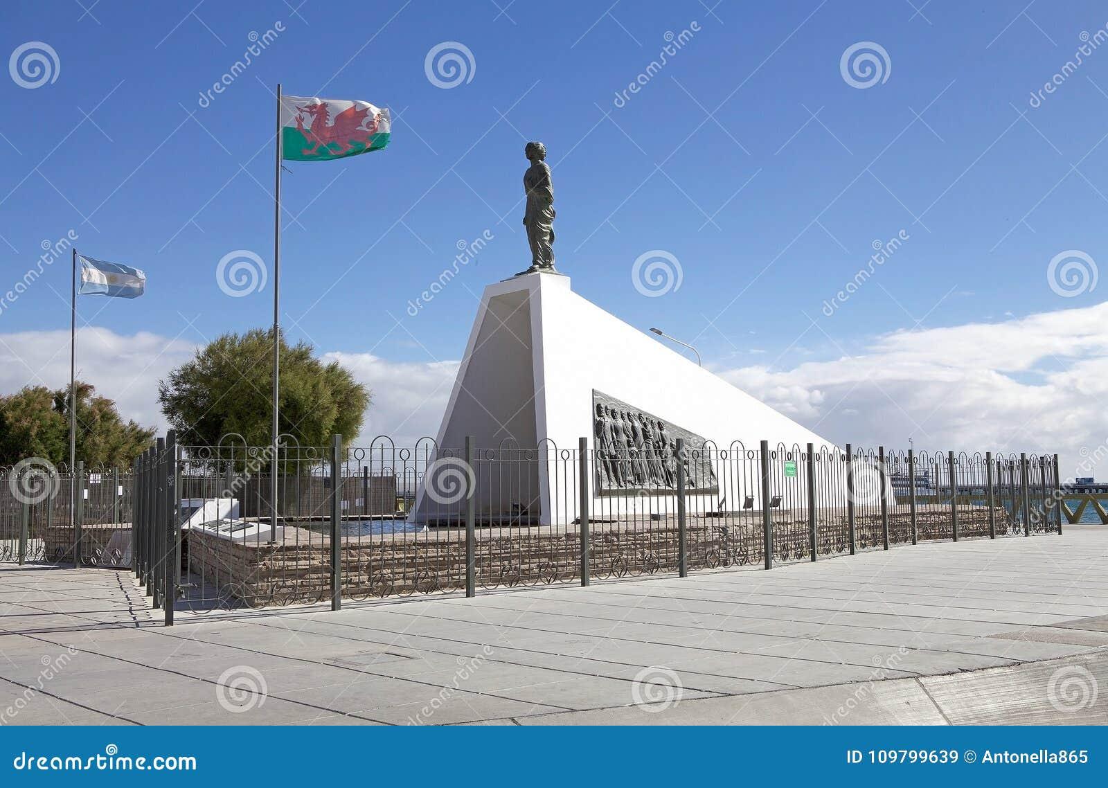 Monumento aos colonos de Galês em Puerto Madryn, uma cidade na província de Chubut, Patagonia, Argentina