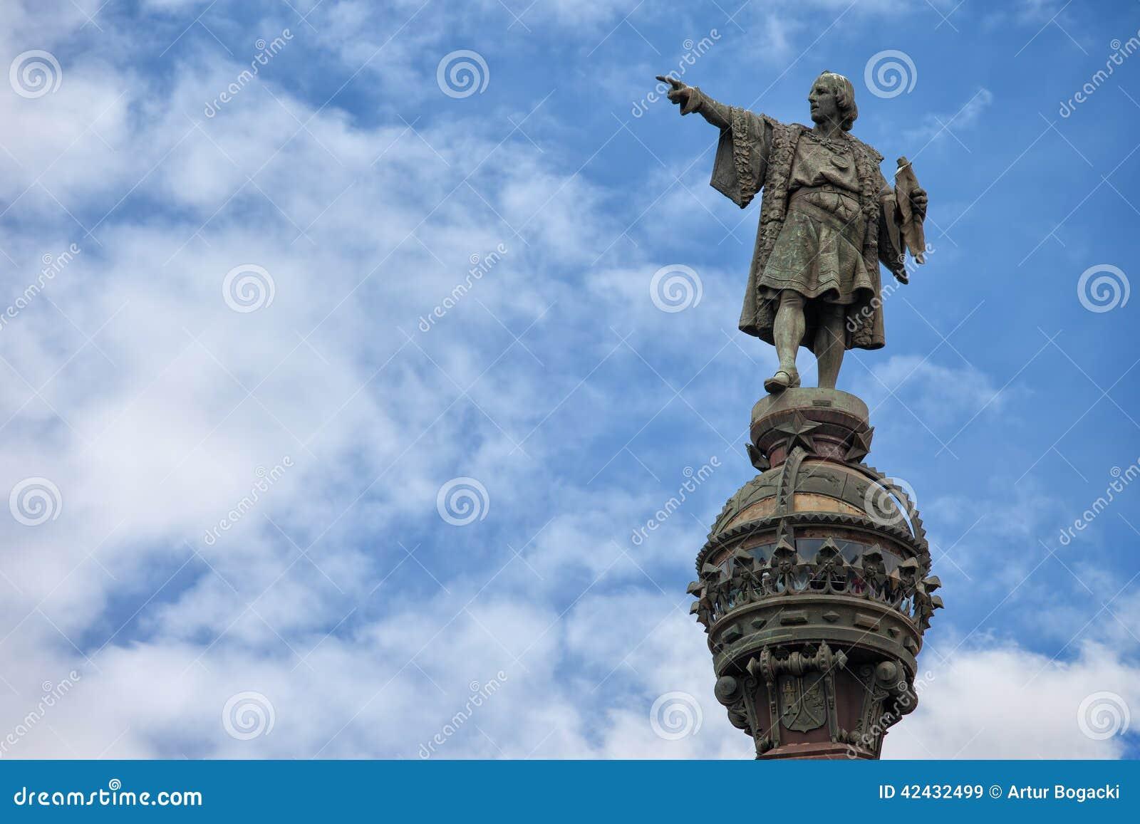 Monumento de Columbus en Barcelona
